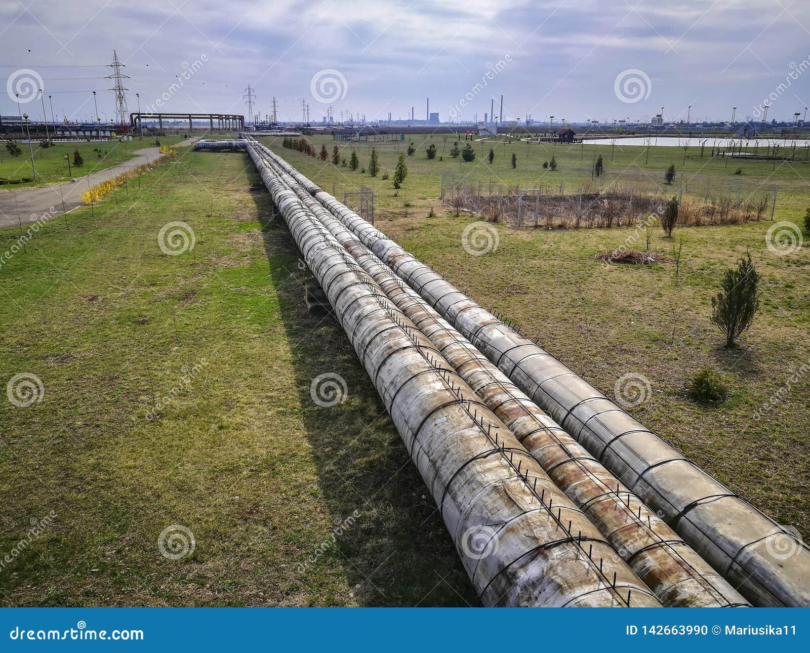 Промышленные трубы для транспорта тепловой энергии