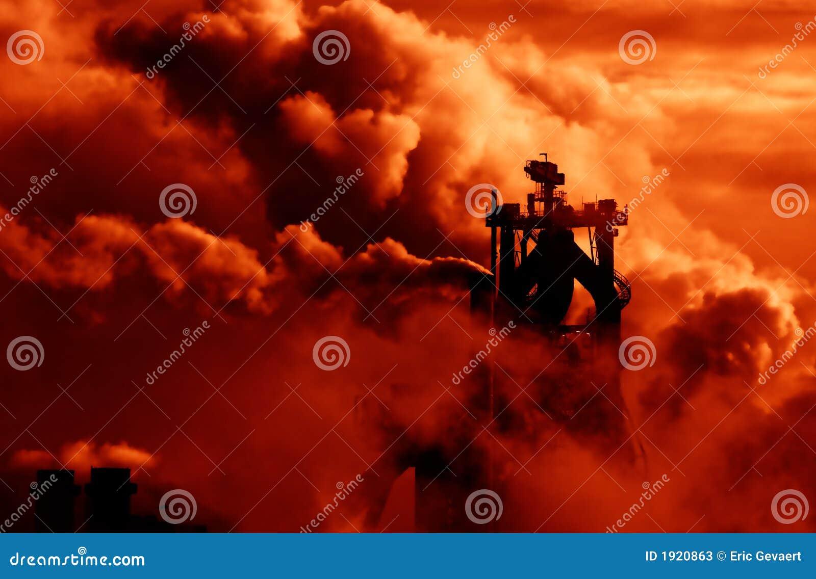 промышленный дым