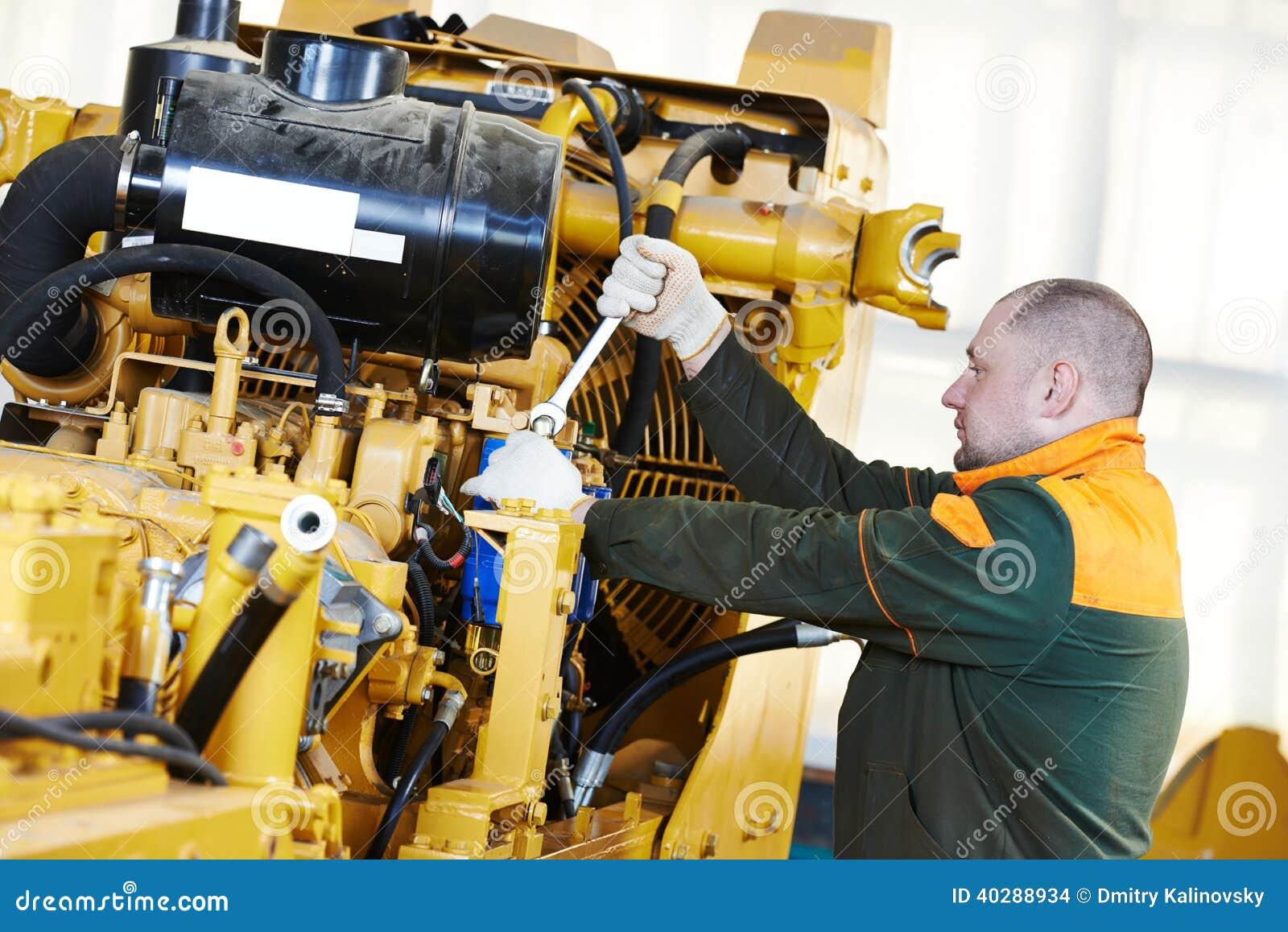 Промышленный работник сборщика