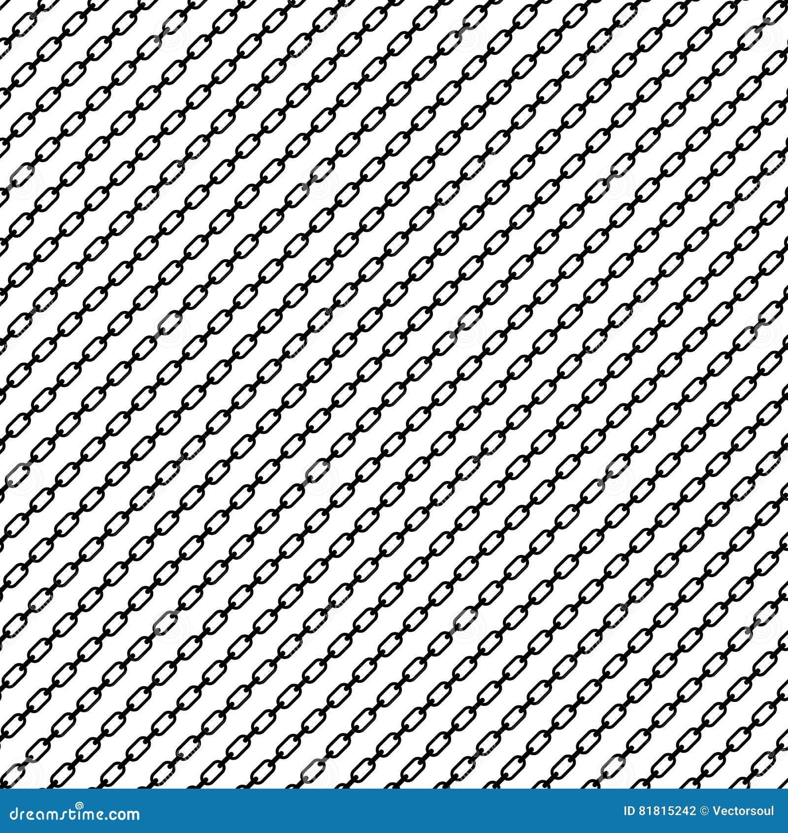 Простое плоское звено цепи, цепная иллюстрация Силуэт chai