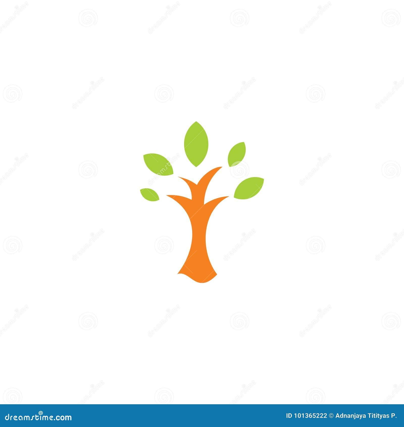 Простой абстрактный вектор логотипа дерева