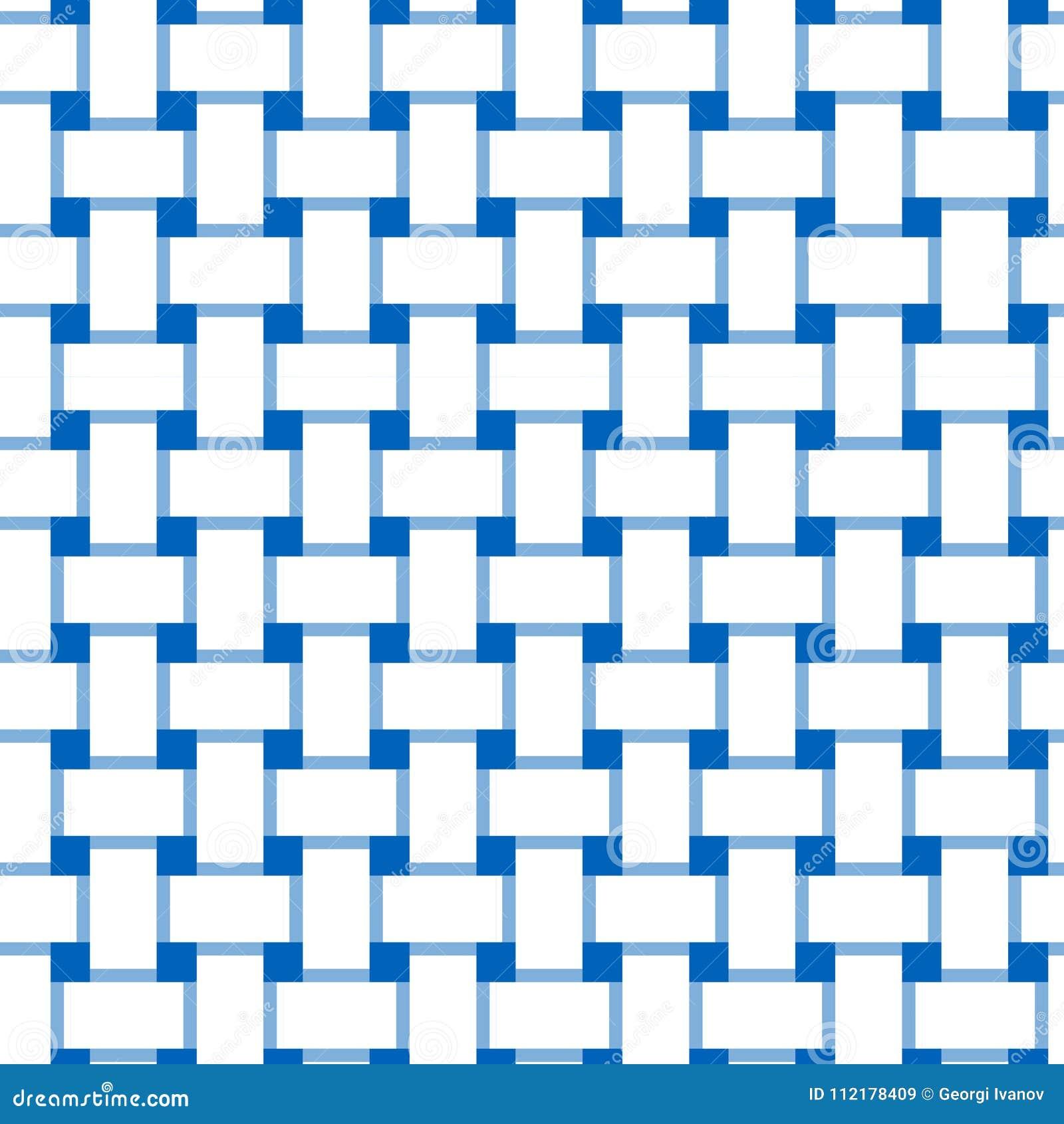 Простой, блокировать плоско белых и сини/перекрывая выравнивает безшовную картину