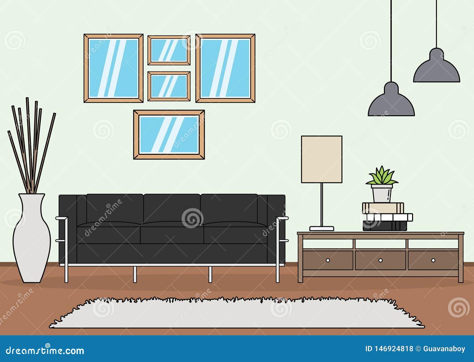 Простой вектор живущей комнаты