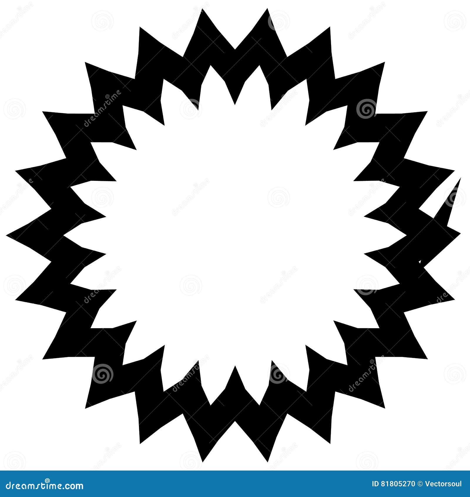 Простой геометрический элемент круга изолированный на белизне