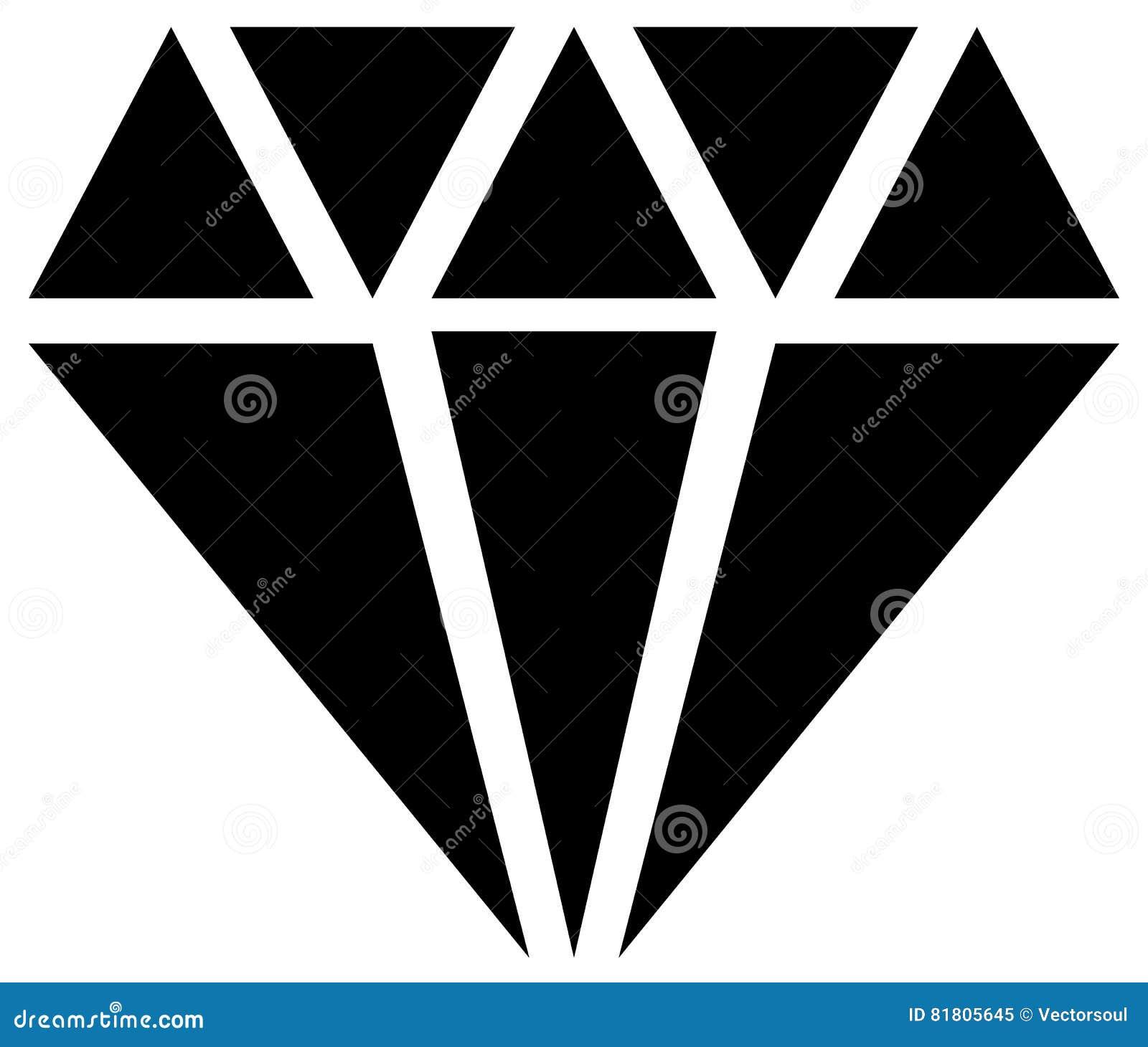 Простой диамант, знак ювелирных изделий, символ Драгоценный камень, рубиновый значок,