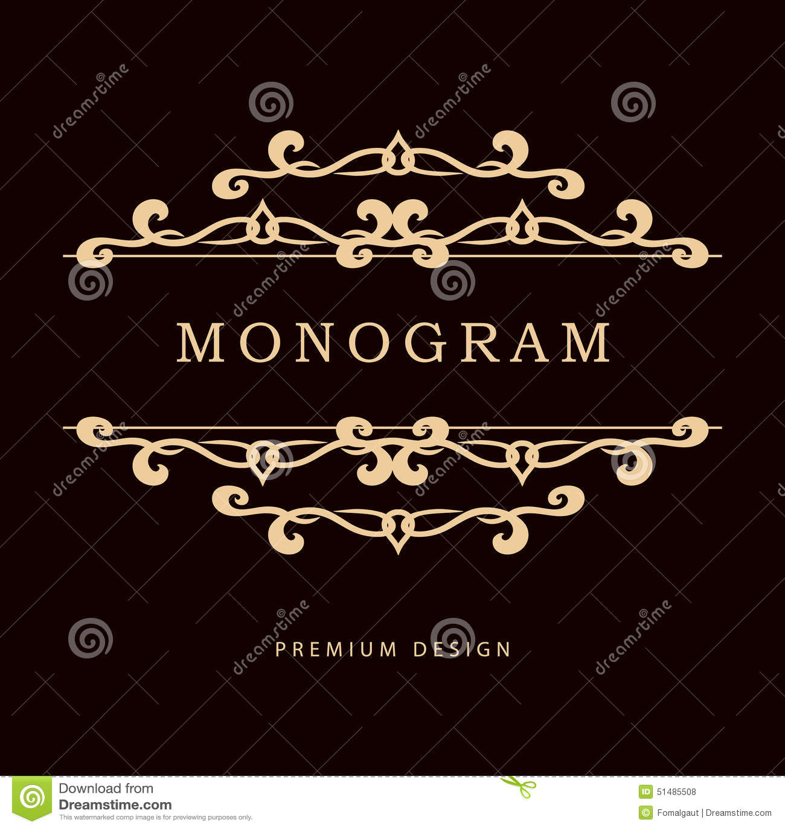 Простой и грациозно флористический шаблон дизайна вензеля Элегантная линия дизайн логотипа искусства также вектор иллюстрации при