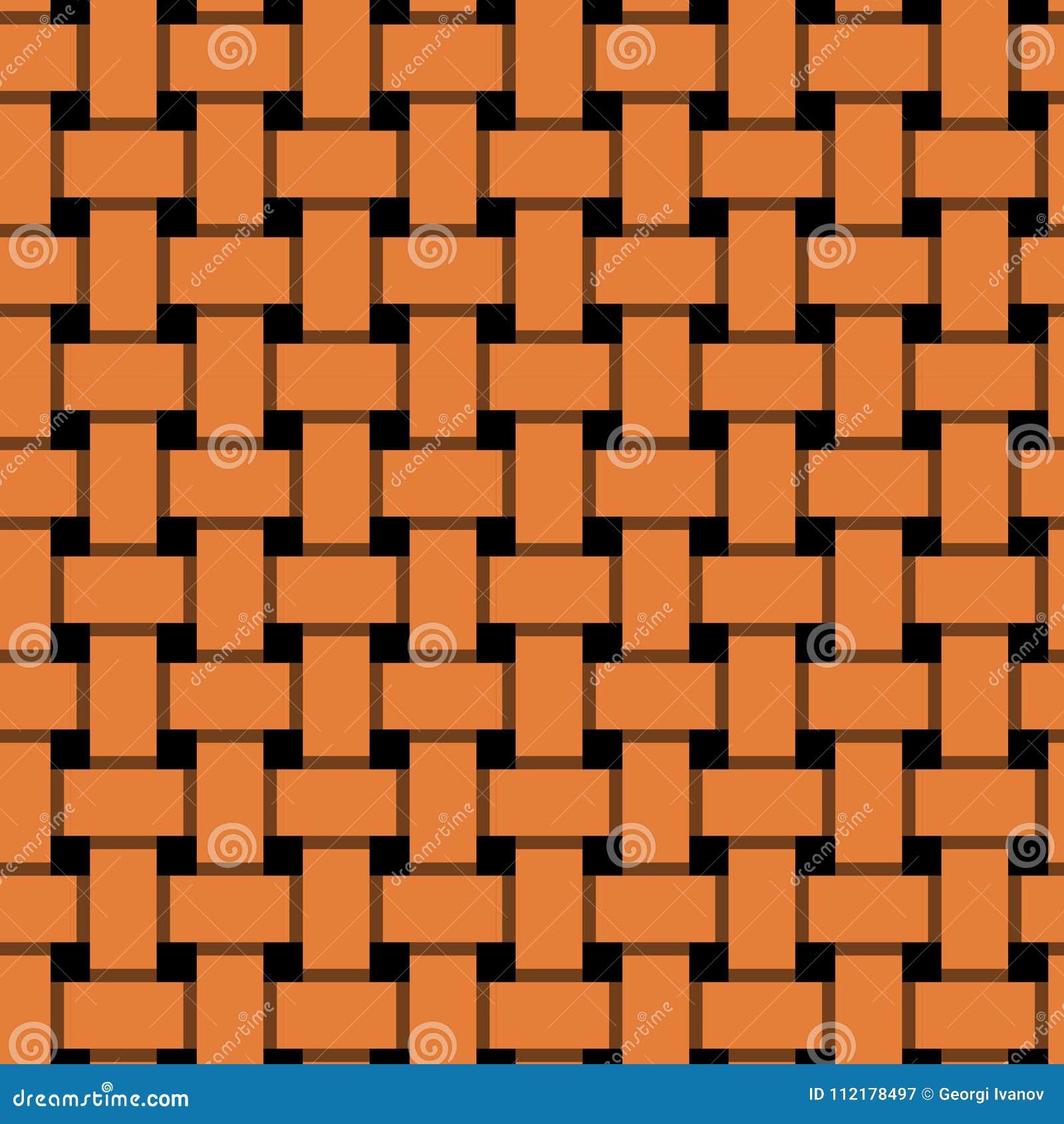 Простой, плоский блокировать апельсина/перекрывая выравнивает безшовную картину