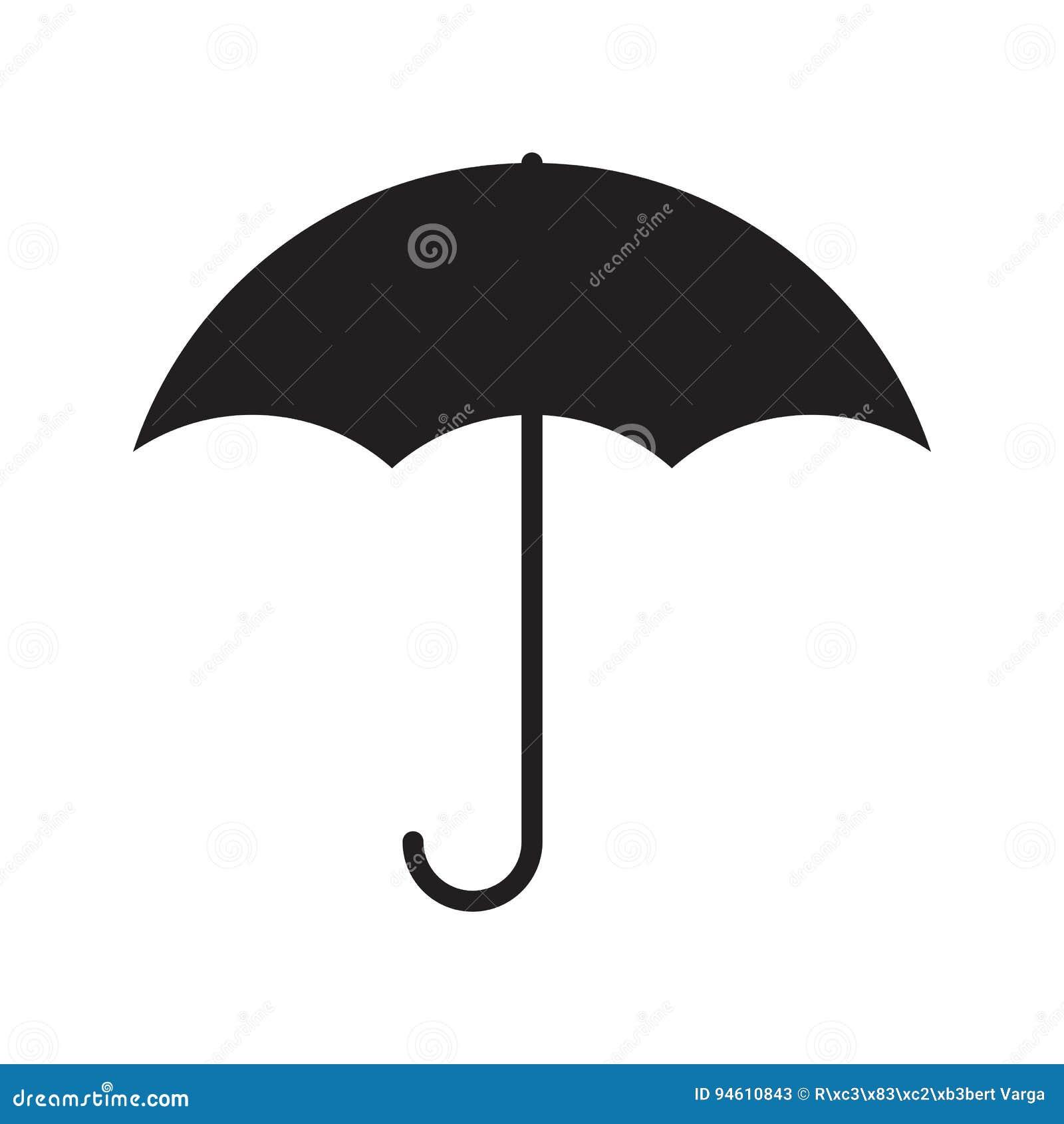 Простой плоский значок зонтика