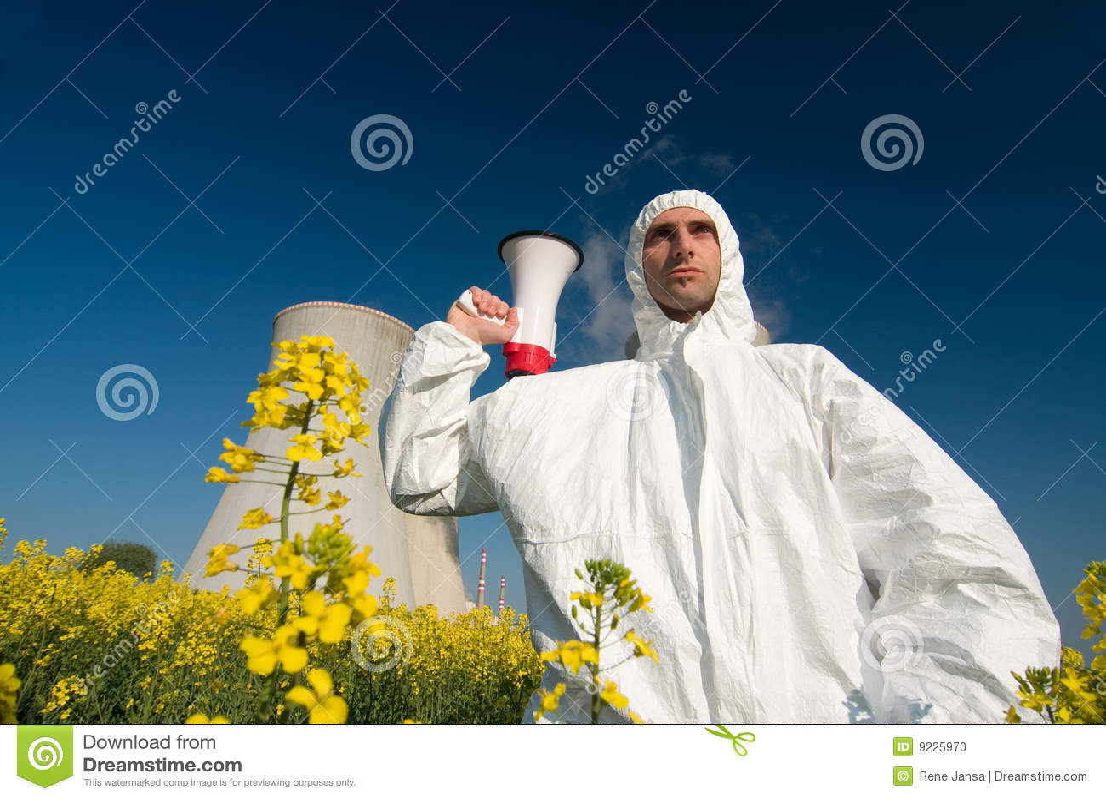 протестующий ядерной установки