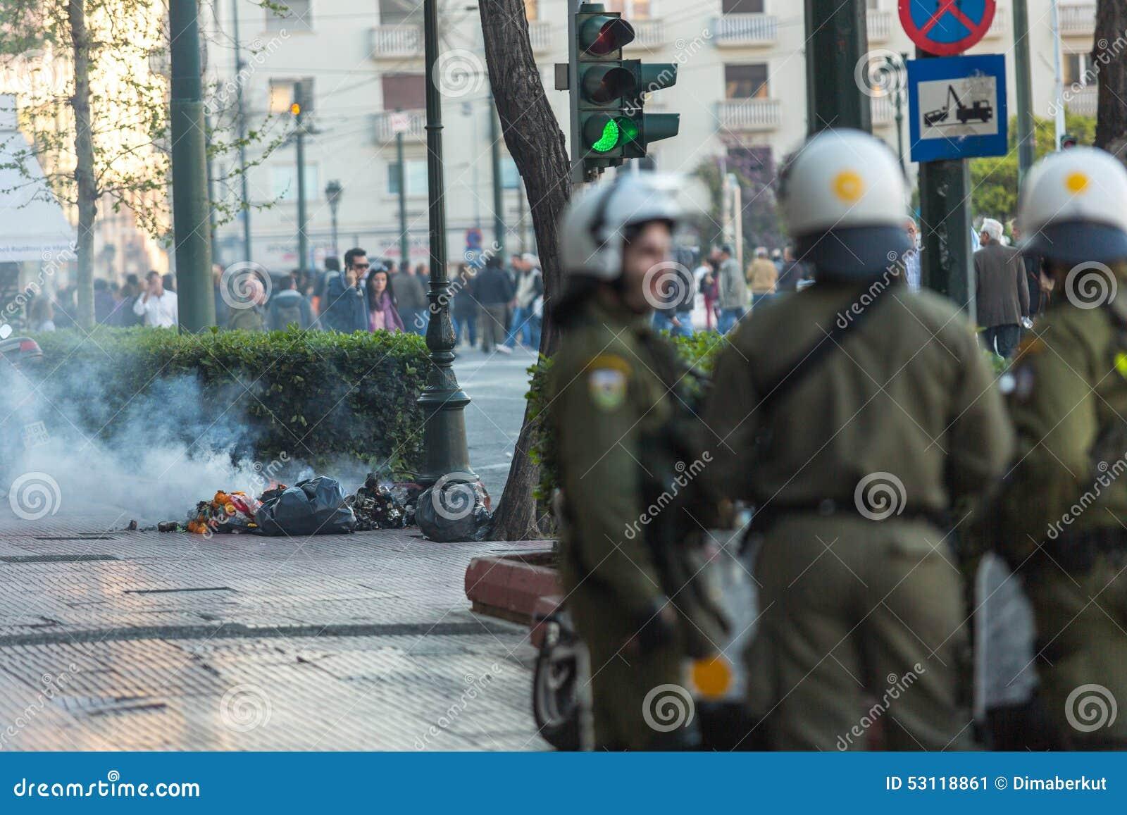 Протесты анархиста в Афинах, Греции