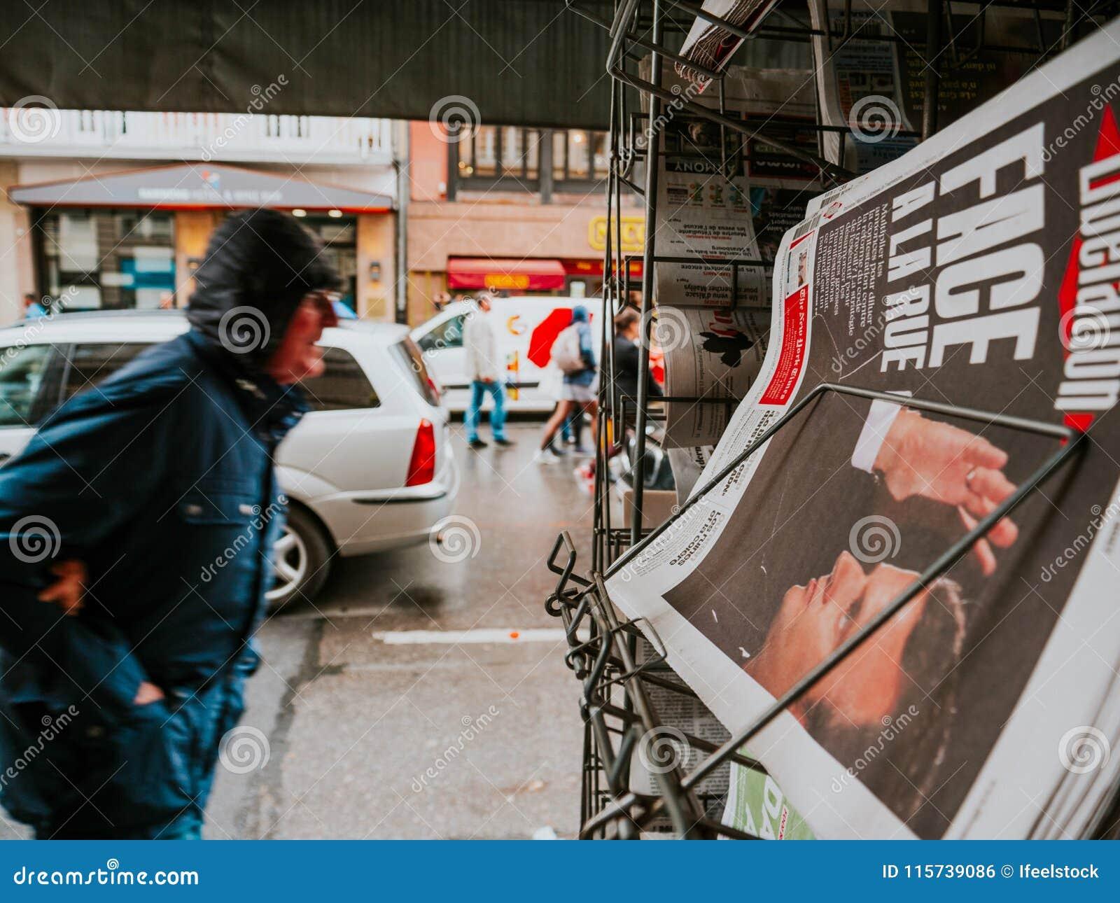 Протесты в Франции против Macron реформируют портрет Macron во время
