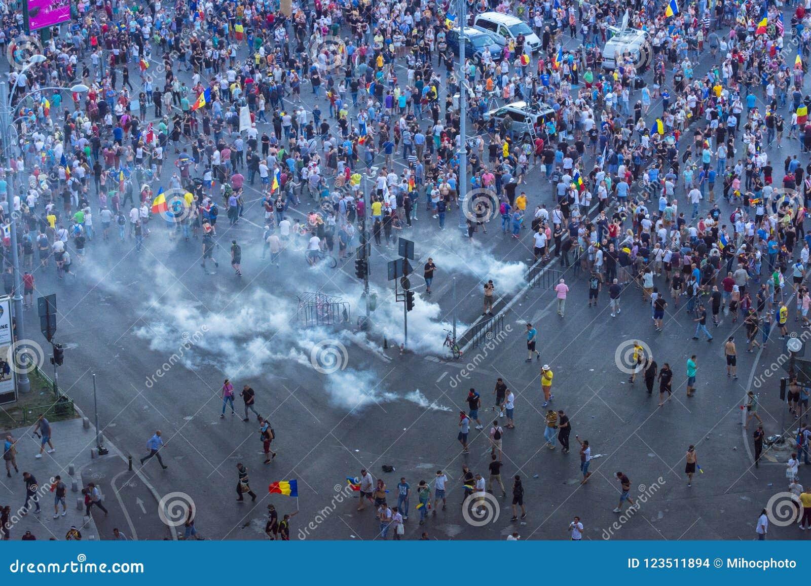 Протест диаспоры в Бухаресте против правительства