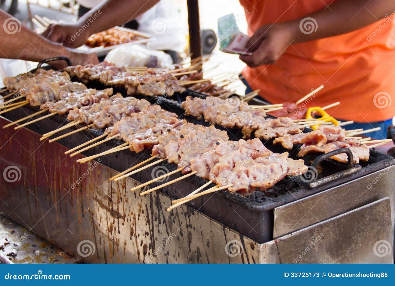 Протыкальники свинины жарки