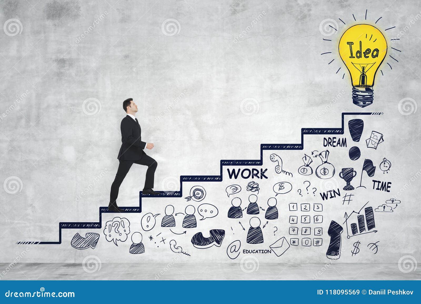 Профессиональная карьера и концепция успеха Стоковое Изображение - изображение насчитывающей концепция, профессиональная: 118095569