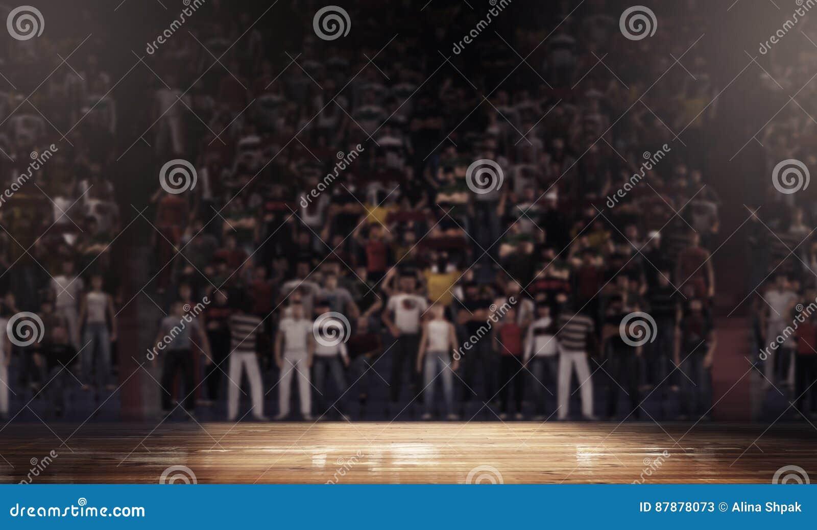 Профессиональная арена баскетбольной площадки чистая