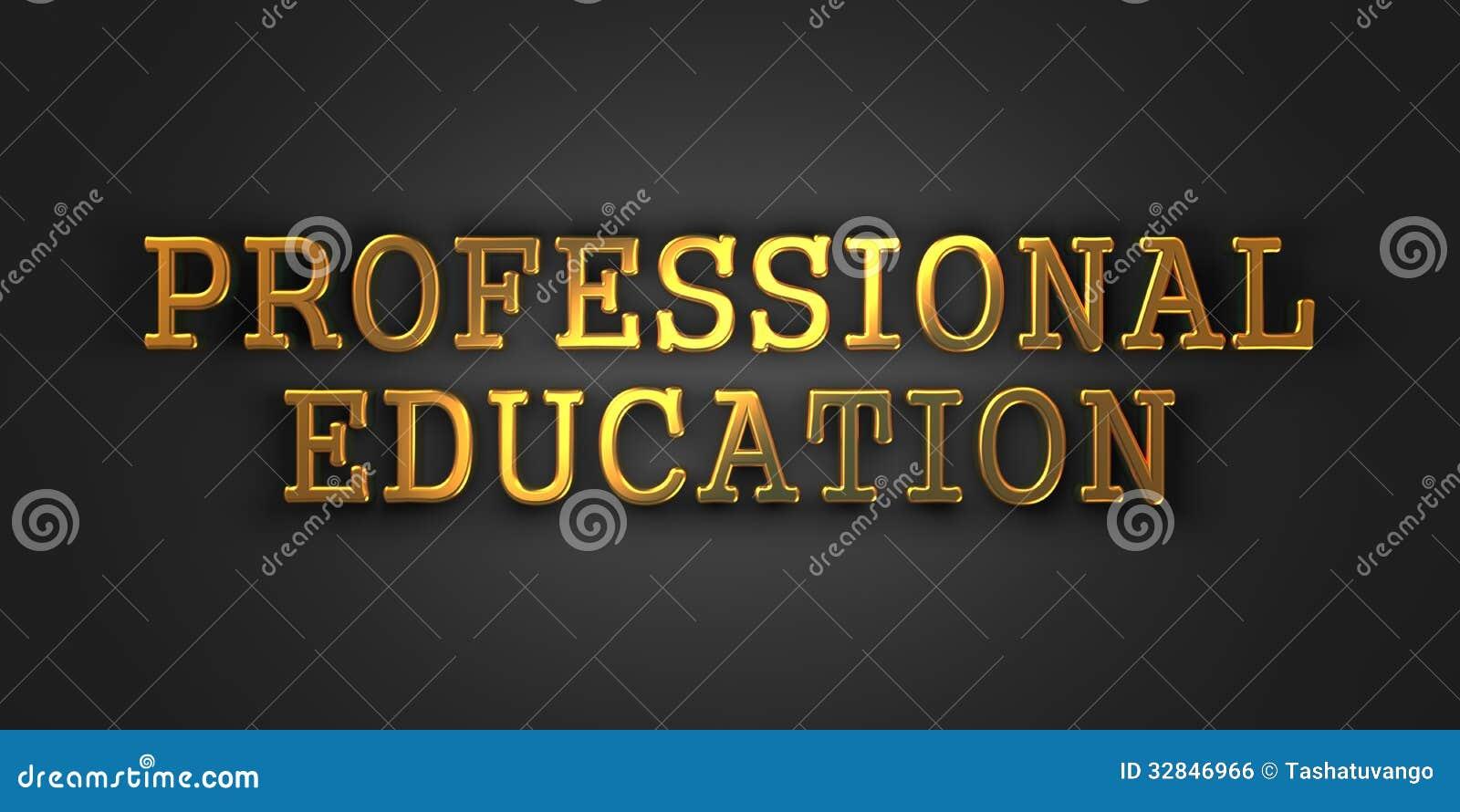 Профессиональное образование. Концепция дела.