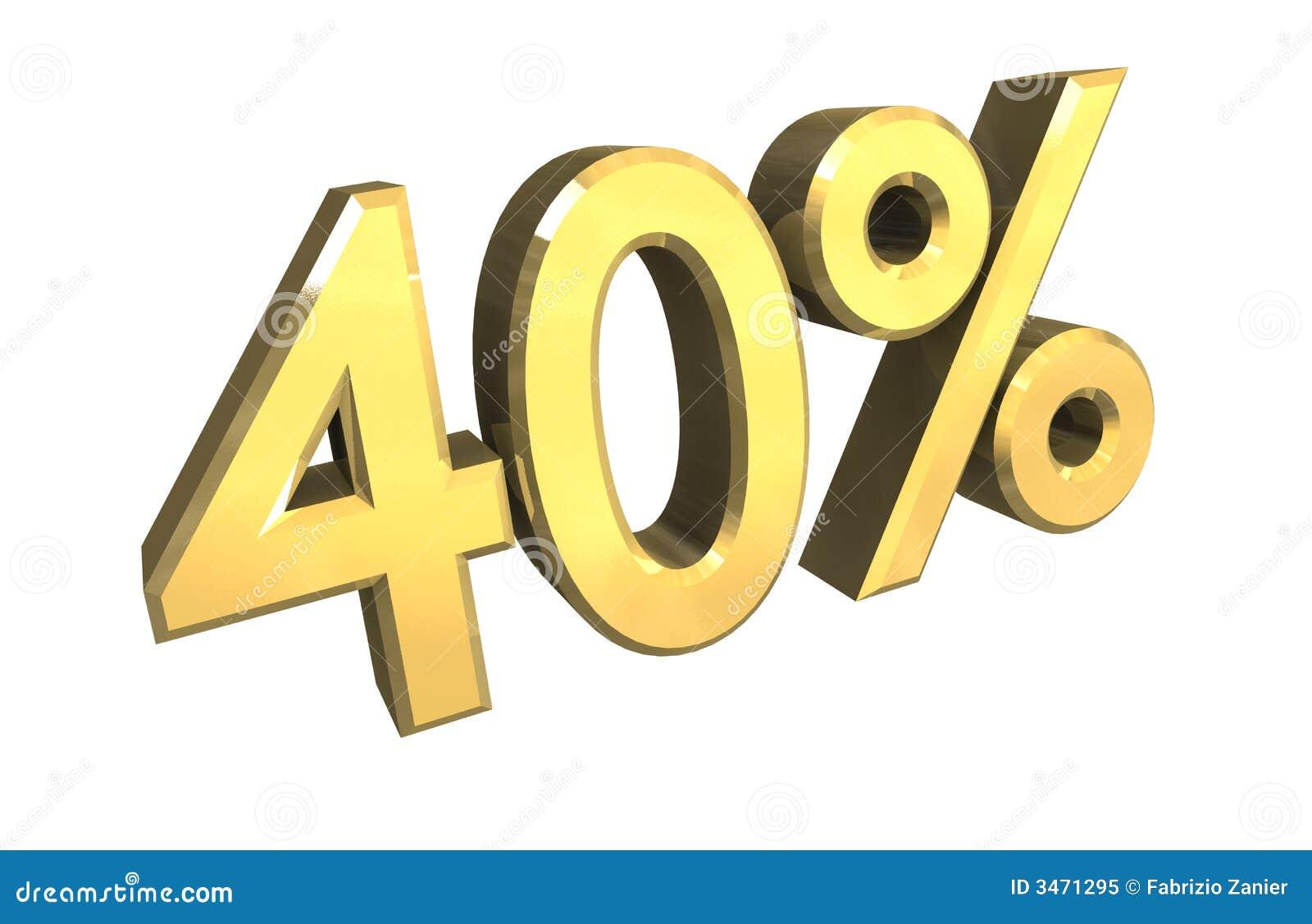 проценты золота 3d 40
