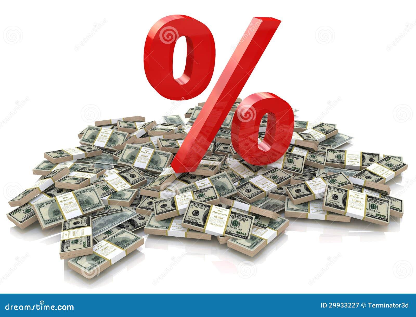 Процент и деньги иллюстрация штока. иллюстрации насчитывающей ...