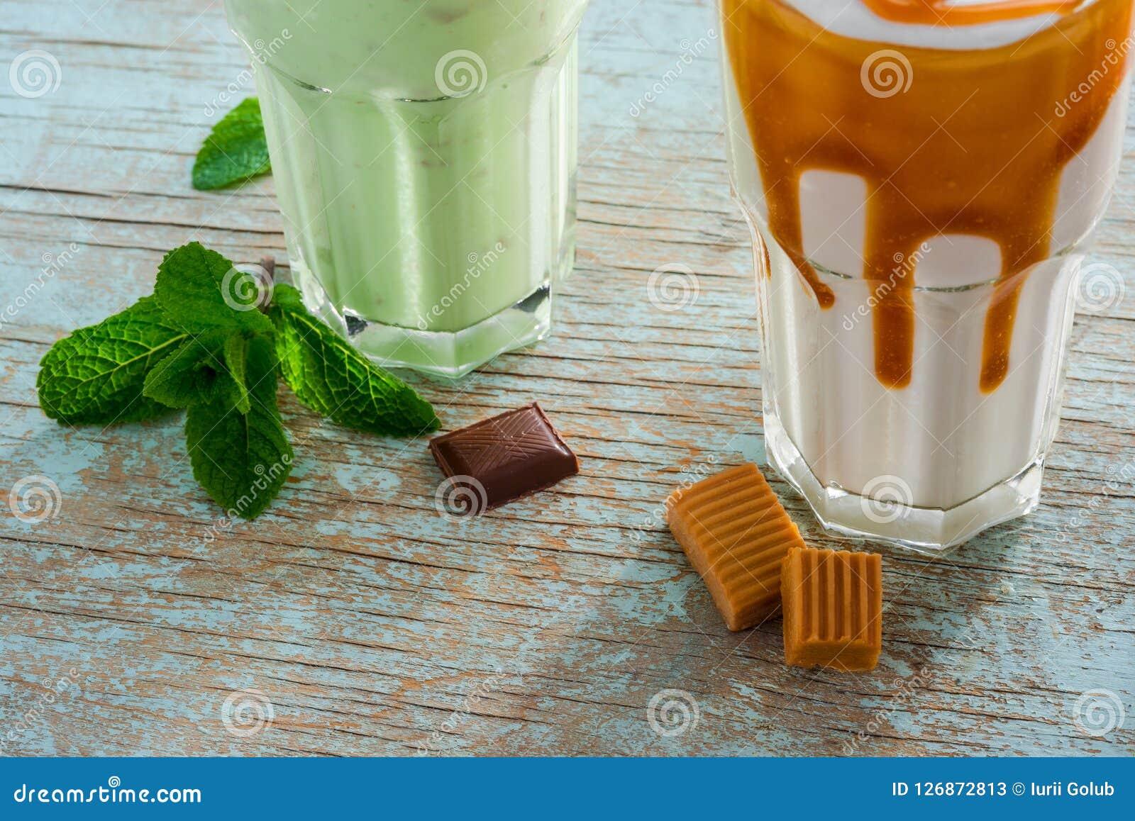 Процесс подготовки milkshakes