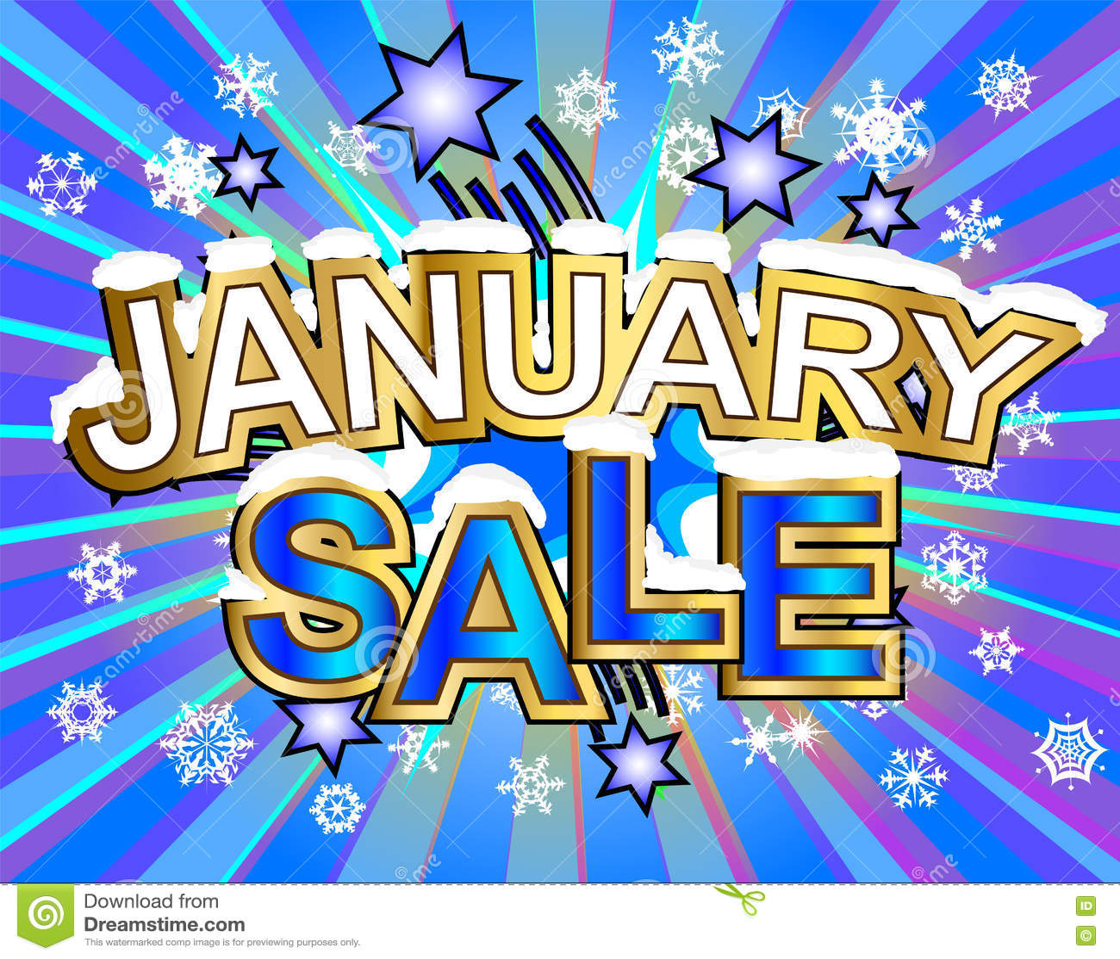Продажа в январе