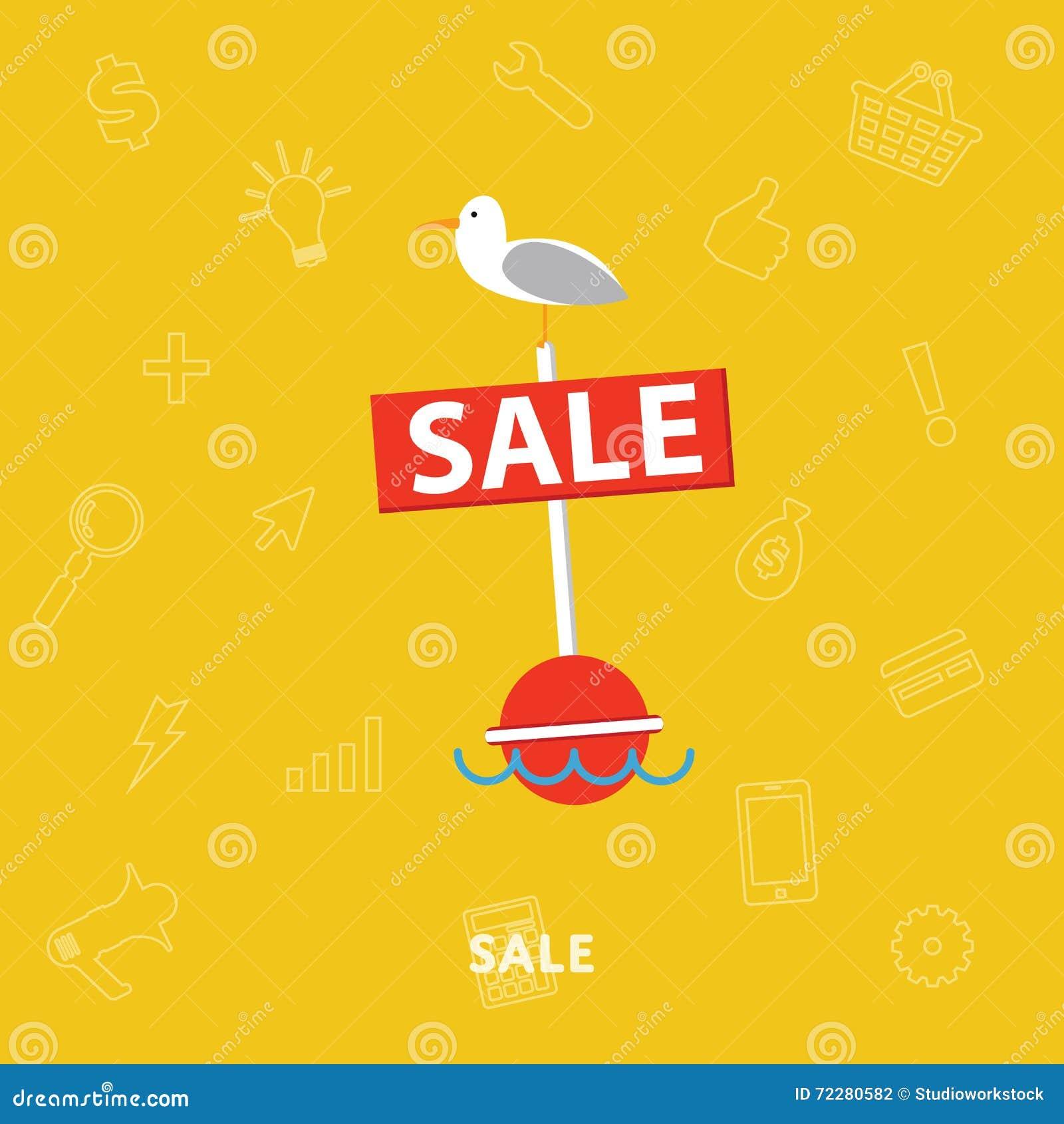 Download Продажи знамя вектора плоско изолированное конспектом Иллюстрация вектора - иллюстрации насчитывающей цена, рекламировать: 72280582