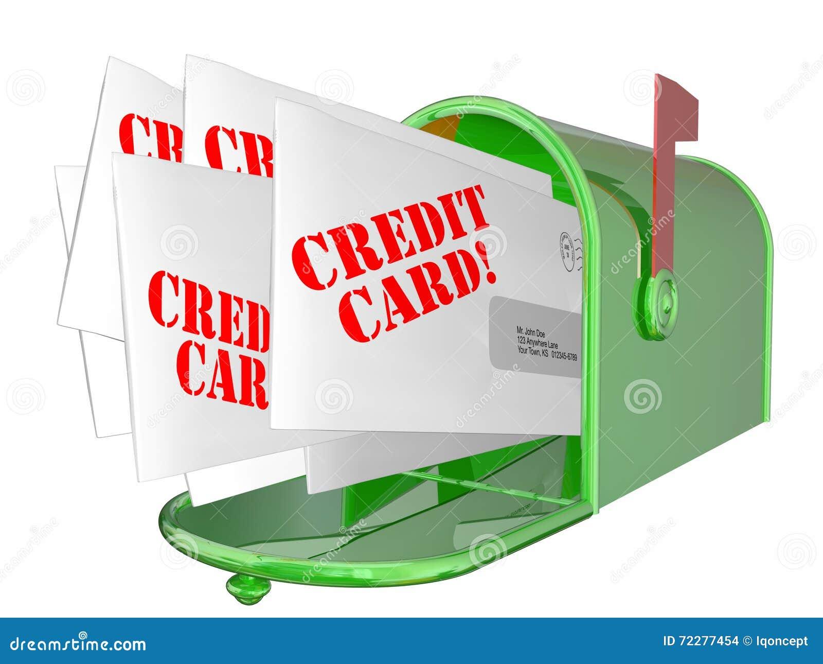 Download Продвижение кредитной карточки помечает буквами почтовый ящик предложений Иллюстрация штока - иллюстрации насчитывающей задолженность, взорвите: 72277454