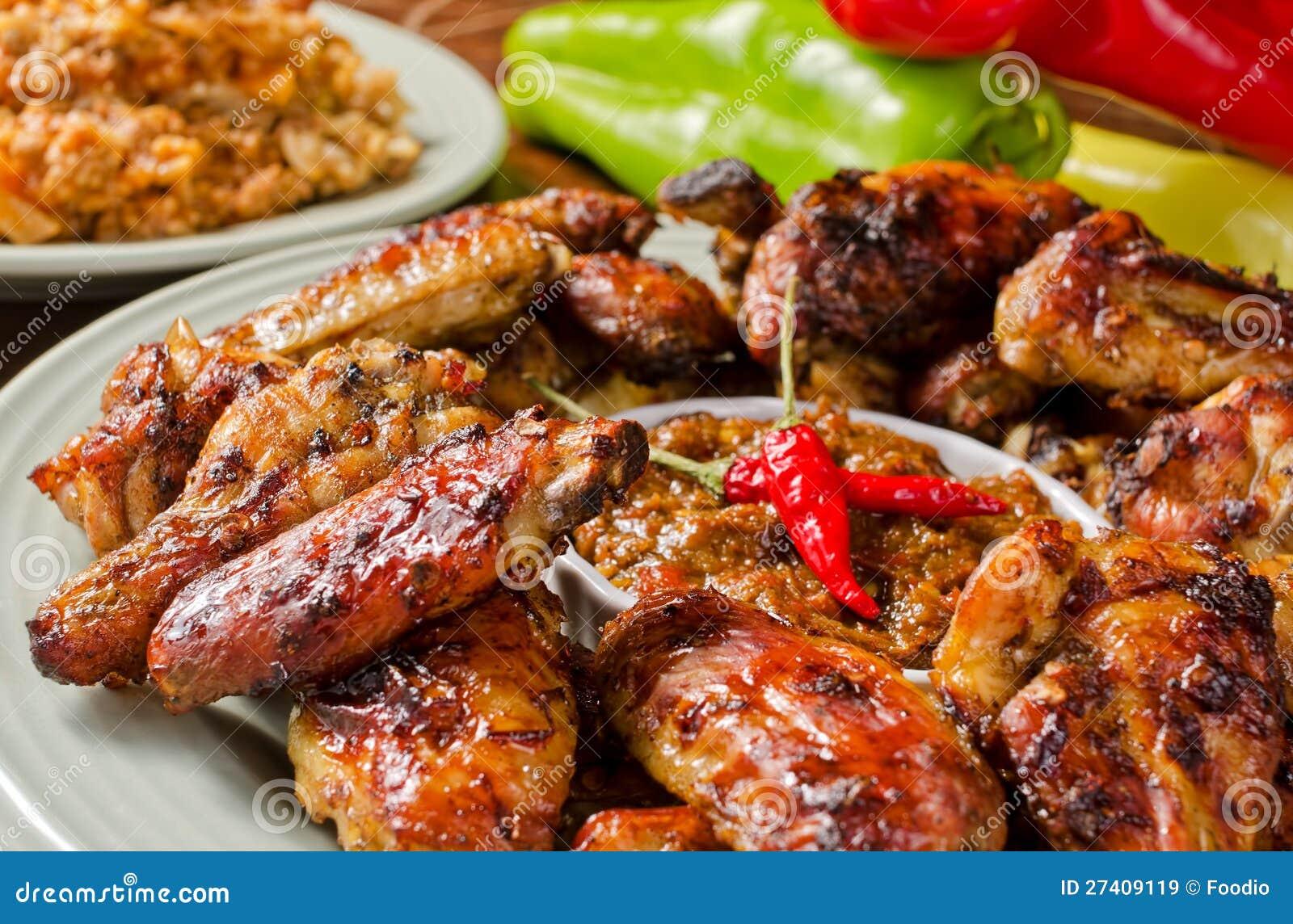 Пряные крыла цыпленка