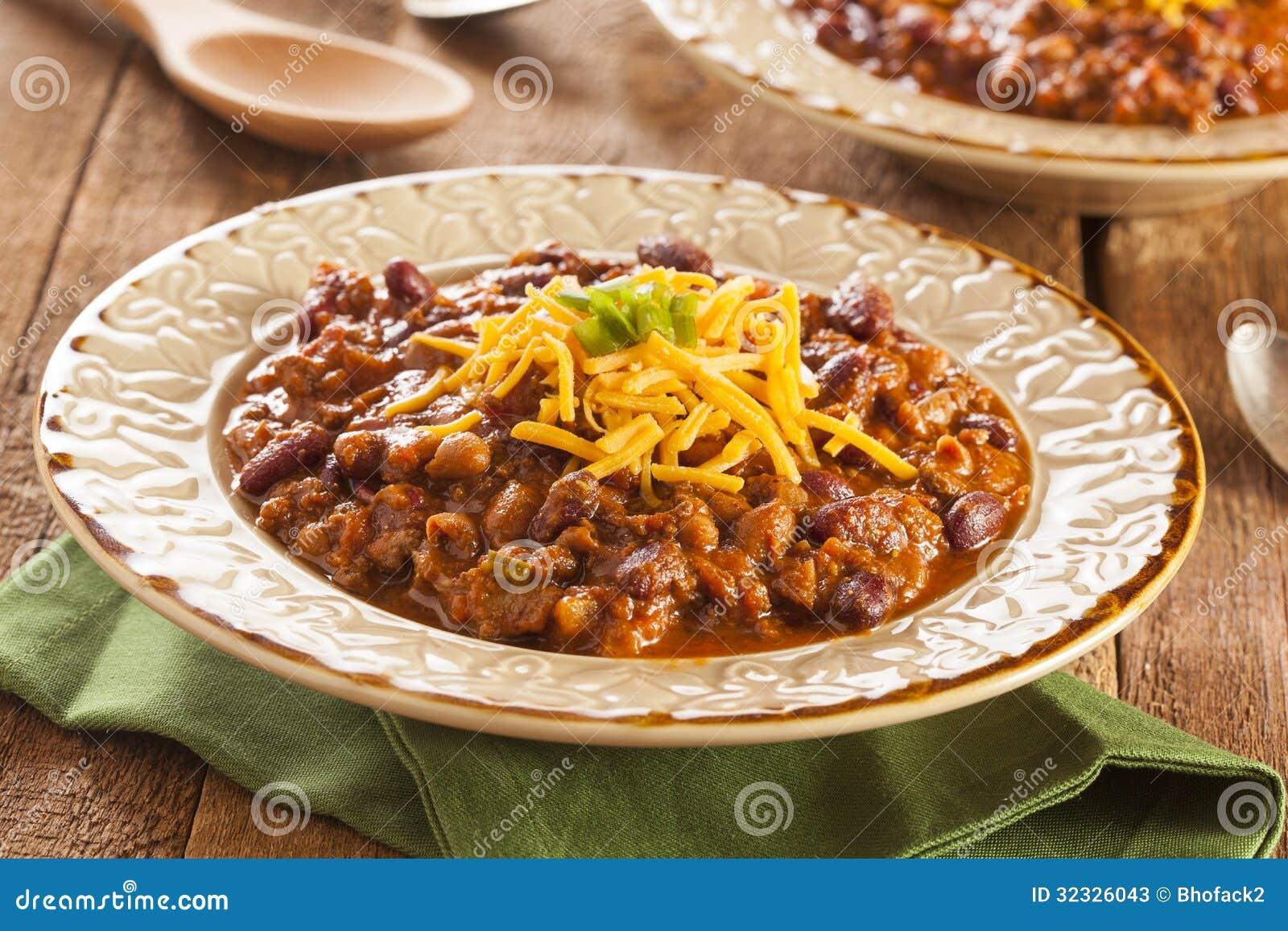 Пряный домодельный суп Carne жулика Chili
