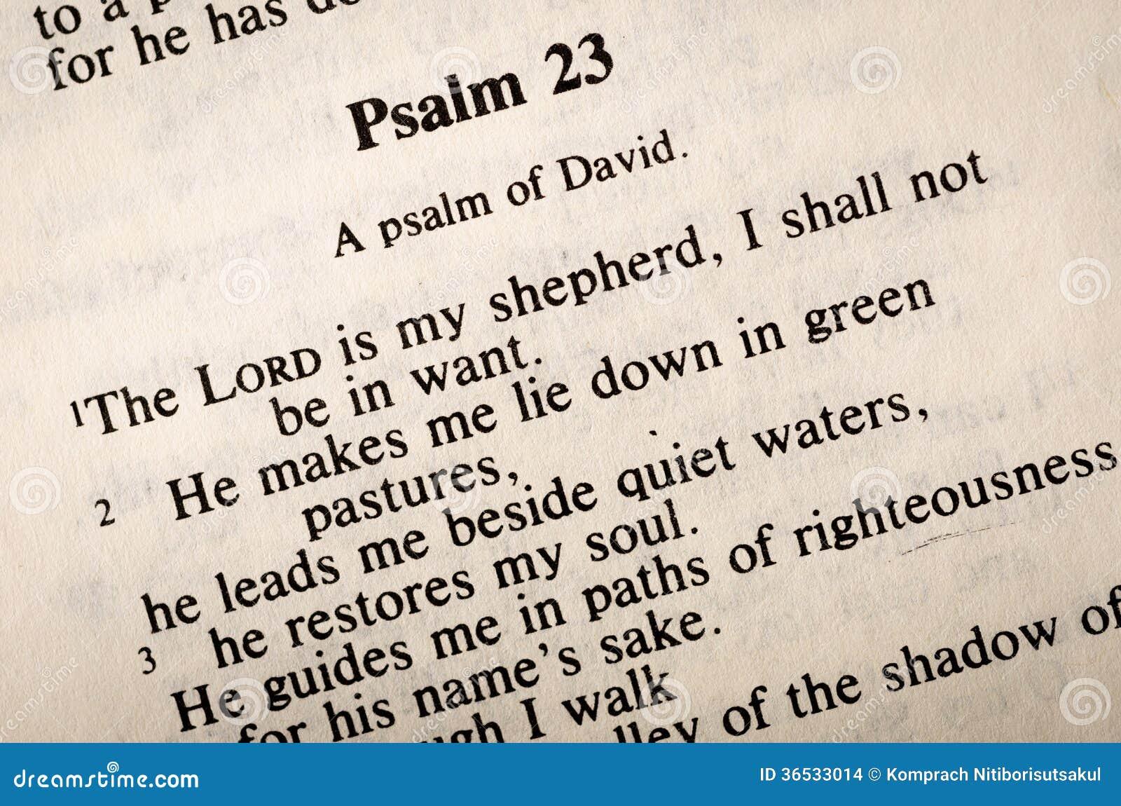 Псалмы 23