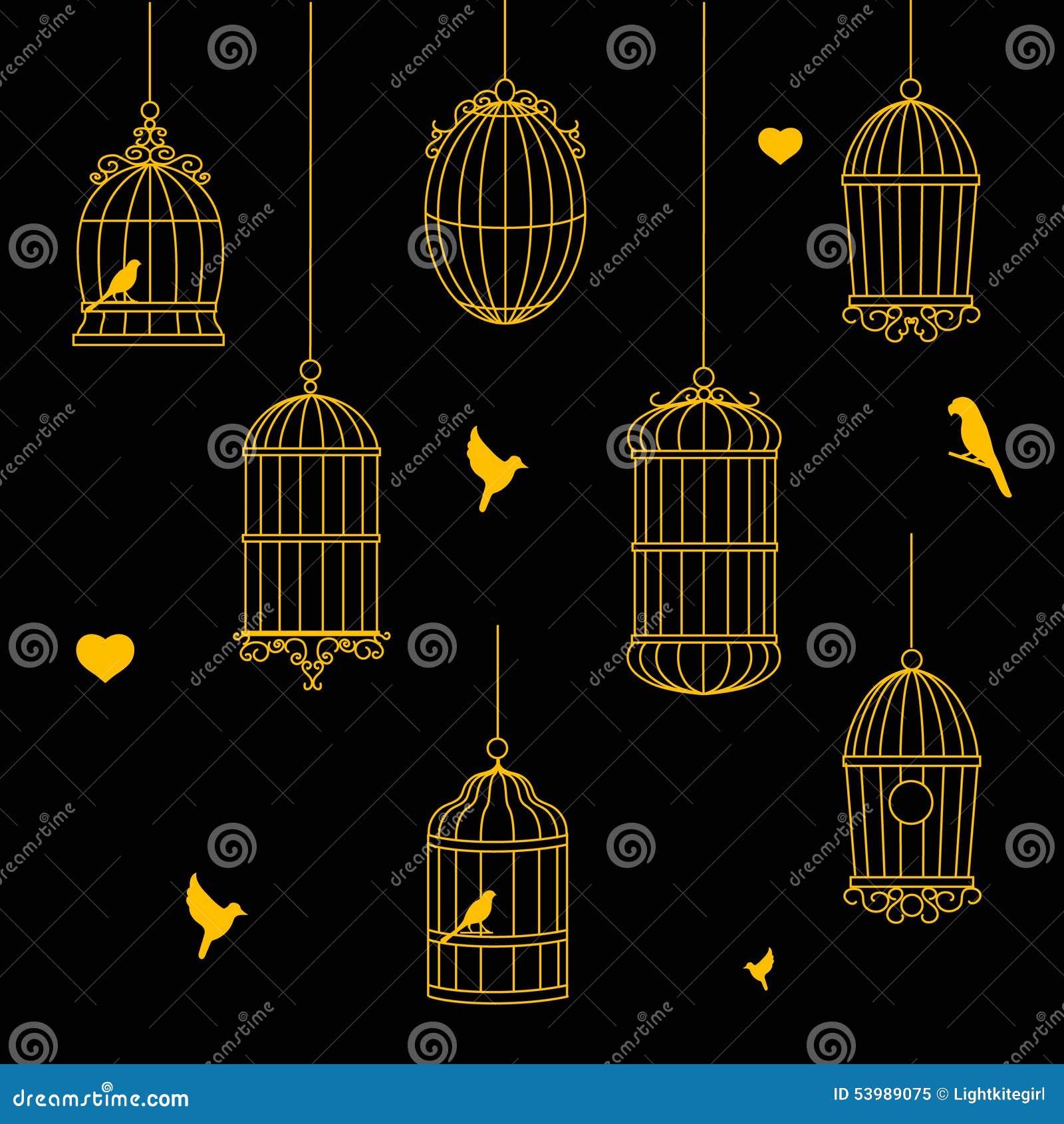 Птицы и собрание Birdcages