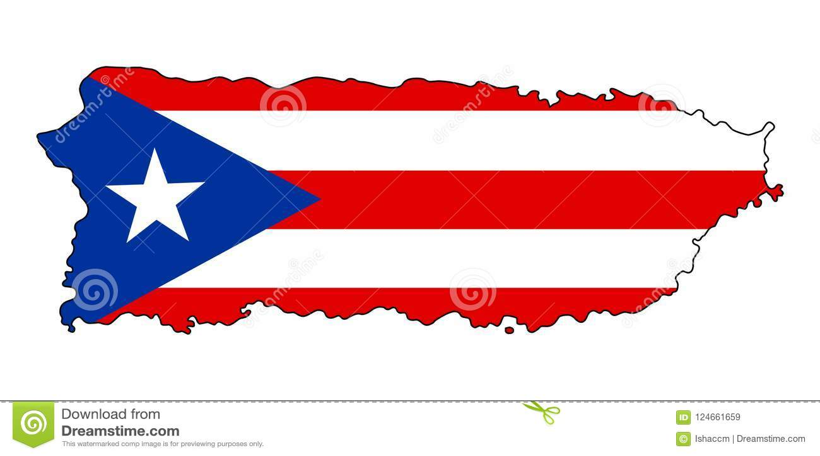 Пуерто Рико Карта иллюстрации вектора Пуэрто-Рико
