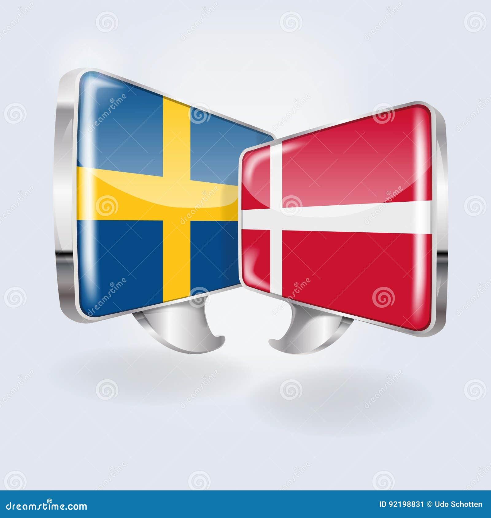 Пузыри в шведском и датском