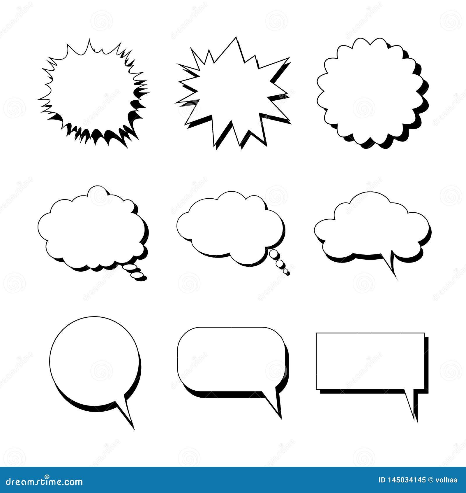 Пузыри речи различных форм