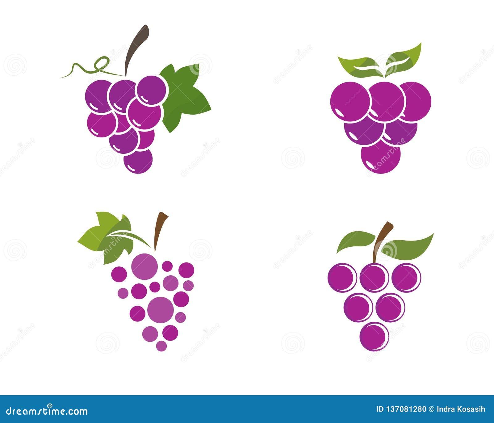 Пук виноградин вина с значком лист