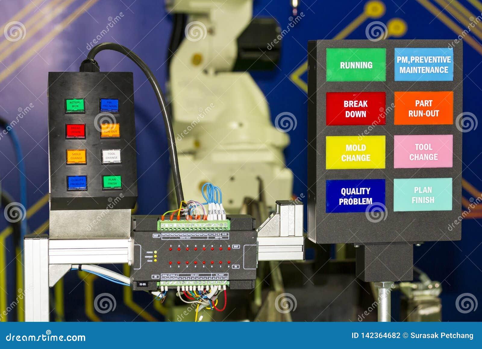 Пульт управления электрический с оборудованием регулятора plc на мастерской