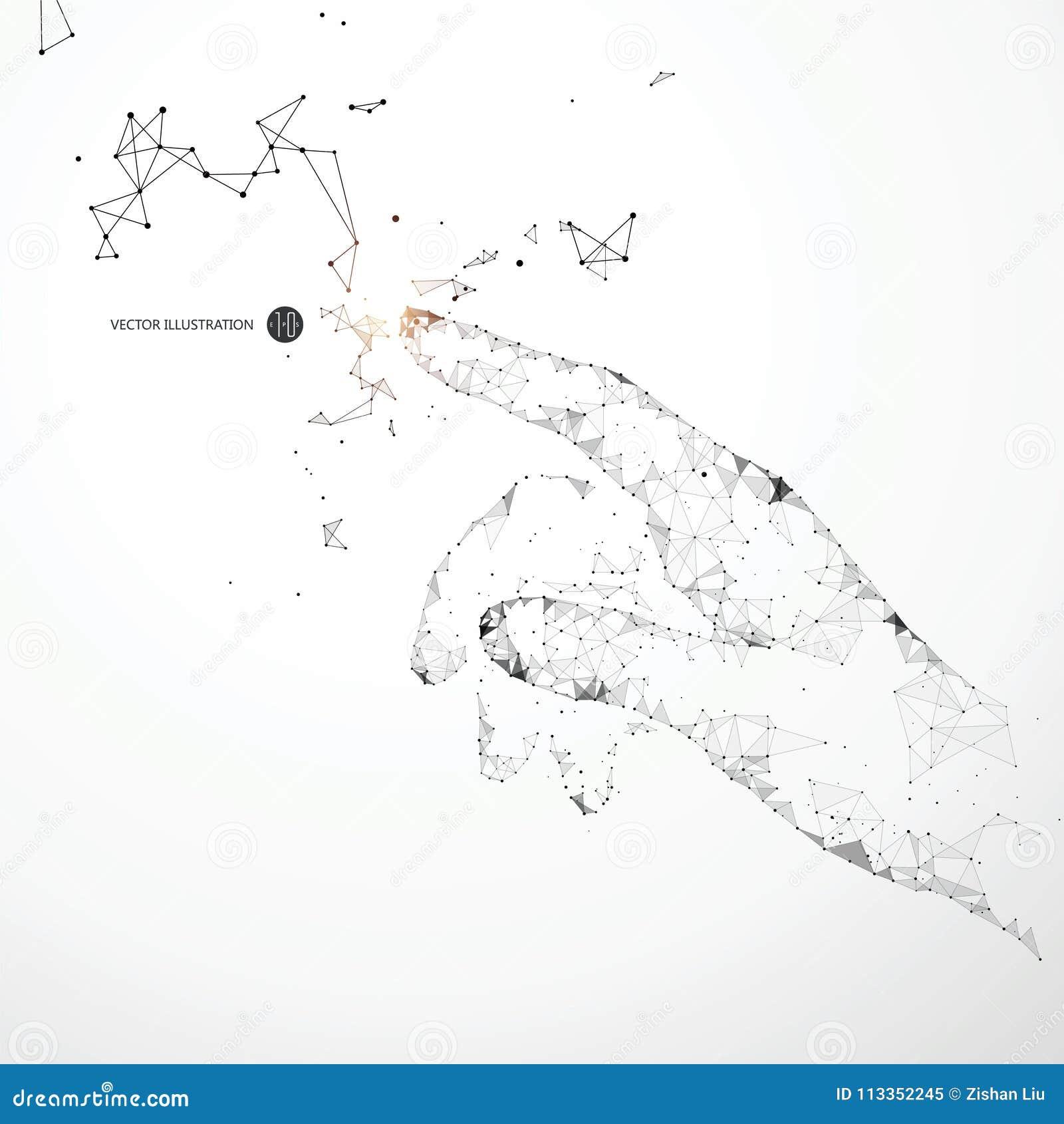 Пункт, линия, поверхностное соединение образовал жест крана