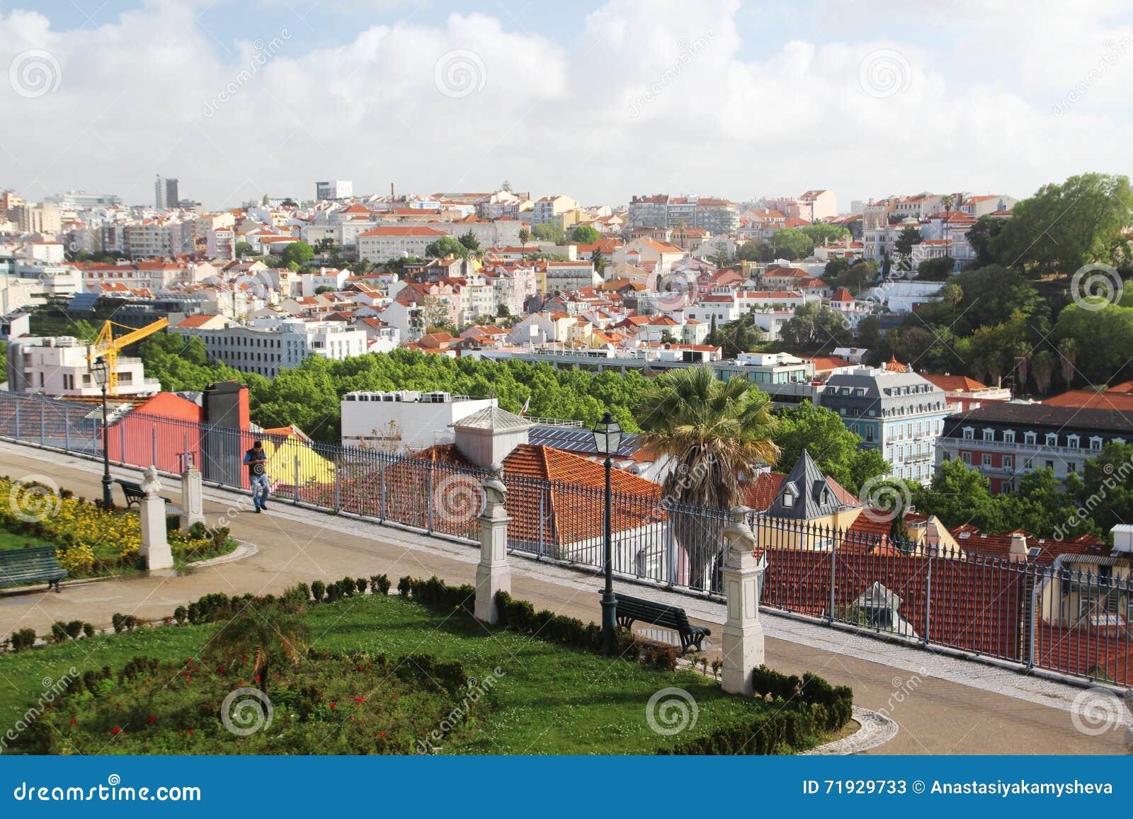 Пункт просмотра San Pedro De Alcantara, Лиссабон, Португалия