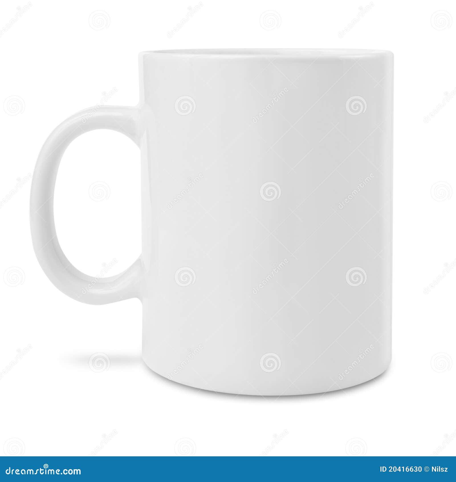 пустая белизна кружки кофе