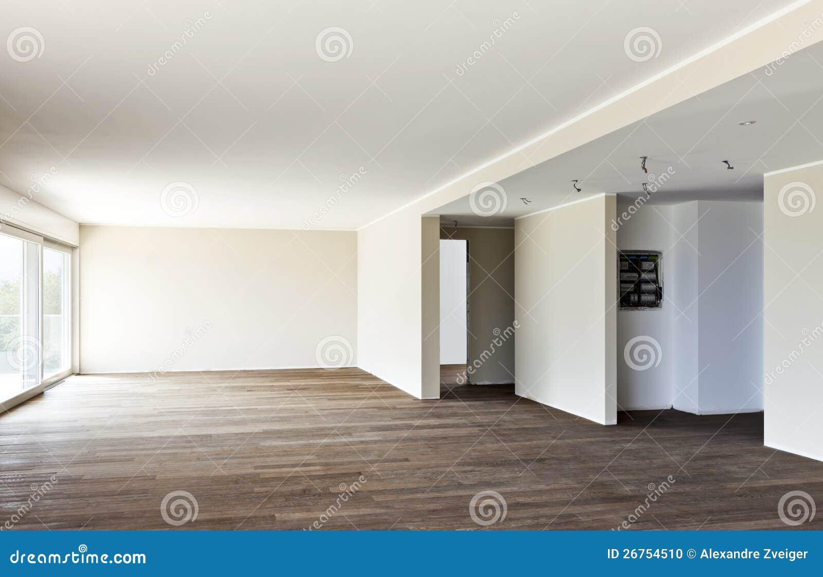 Внутренняя, пустая комната с окном Стоковое Фото - изображение
