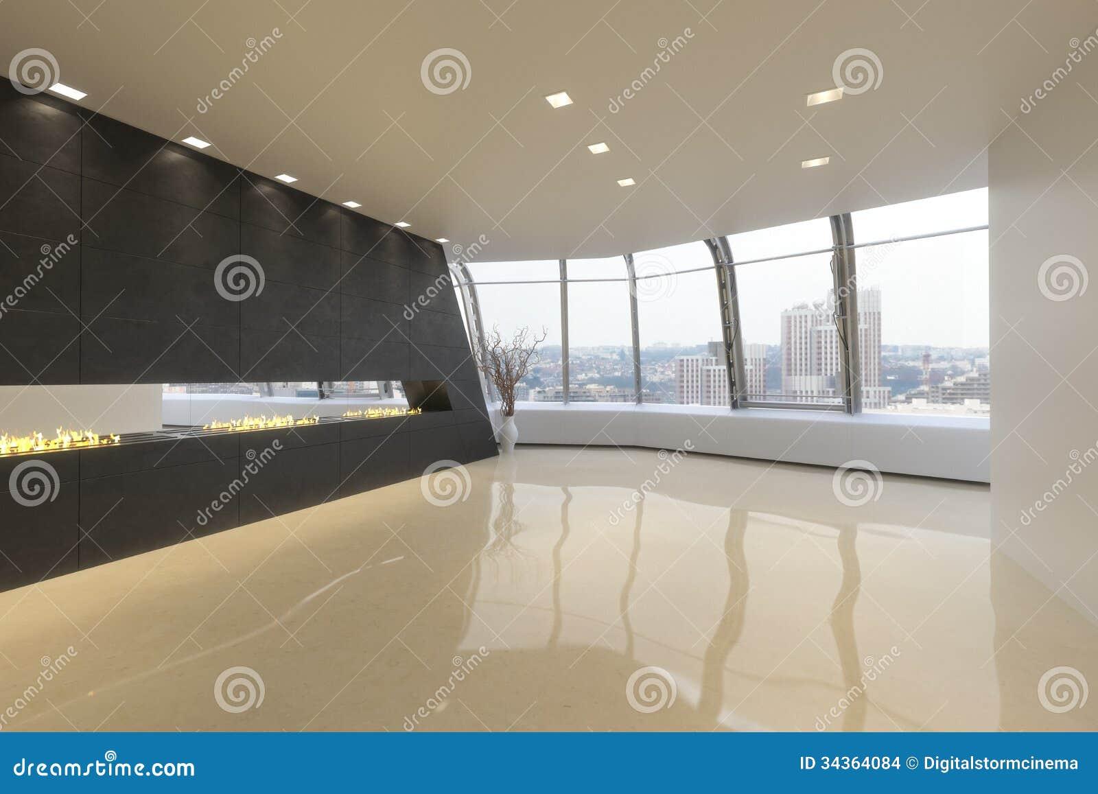 Пустая комната резиденции Highrise современной