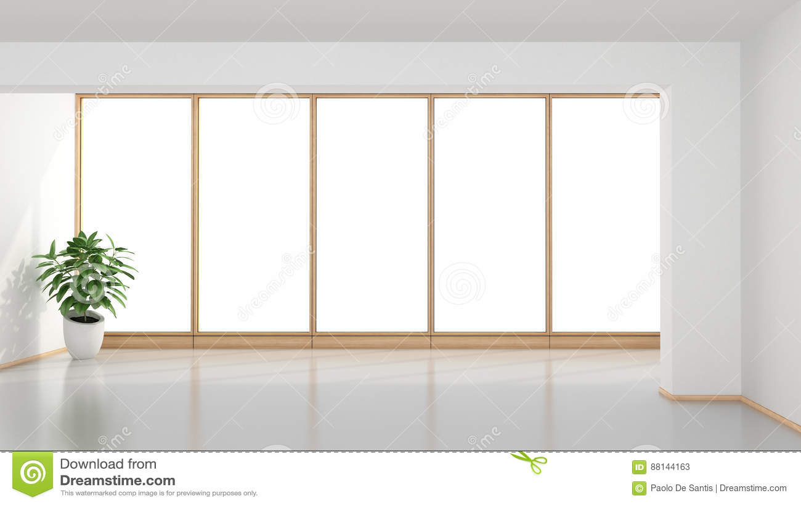 пустая минималист комната