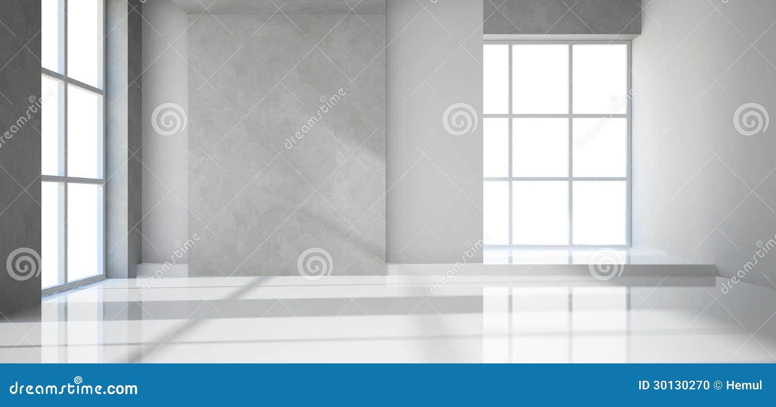 Пустая самомоднейшая комната