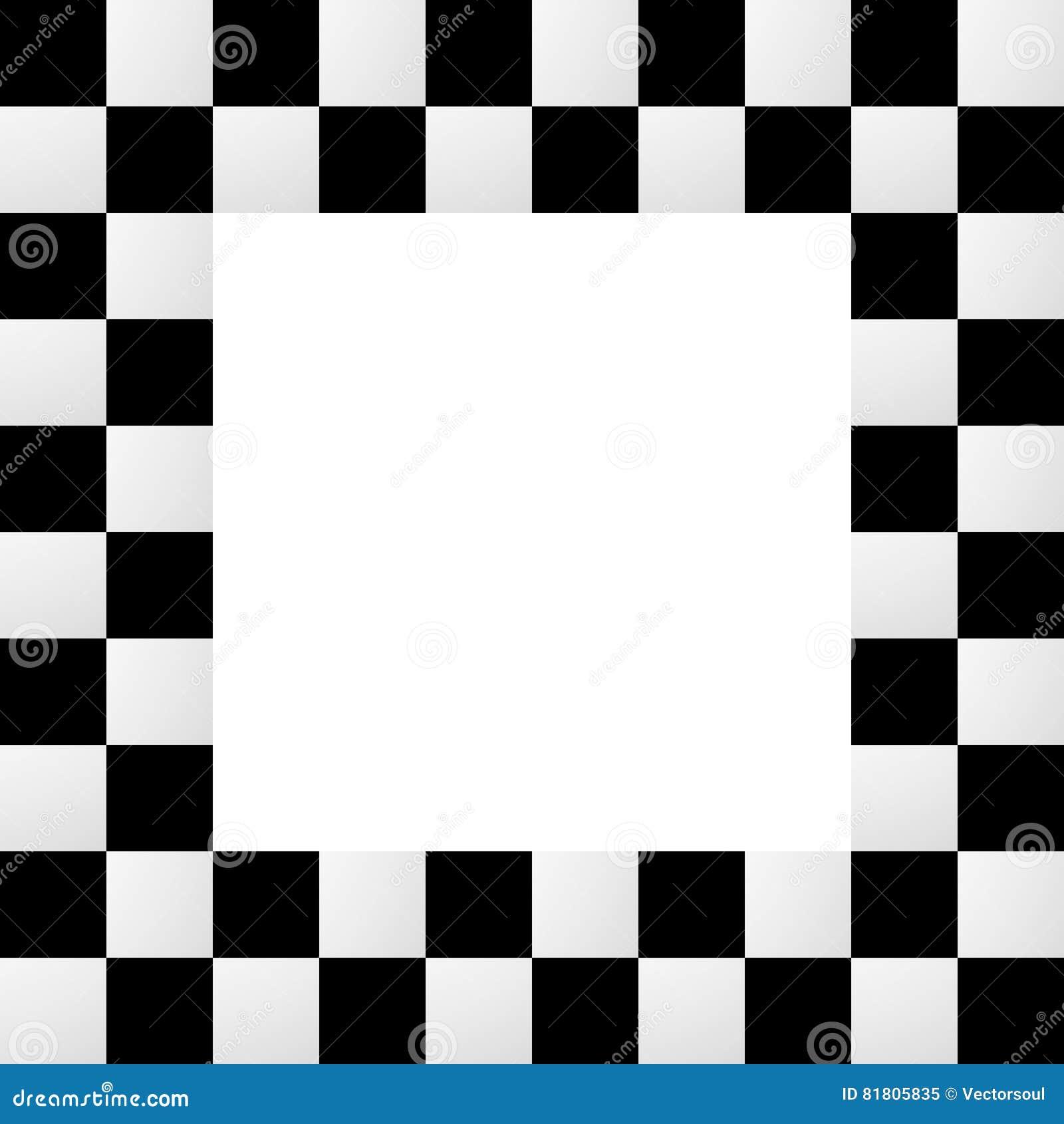 Пустая squarish checkered рамка, граница