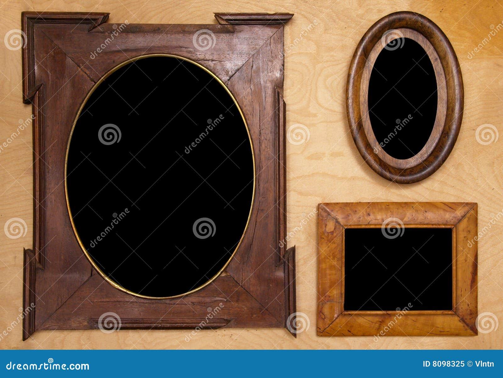пустое wintage фото 3 рамок