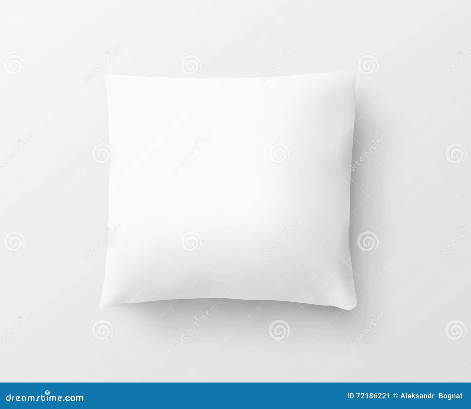 Пустой белый модель-макет дизайна случая подушки, путь клиппирования, иллюстрация 3d