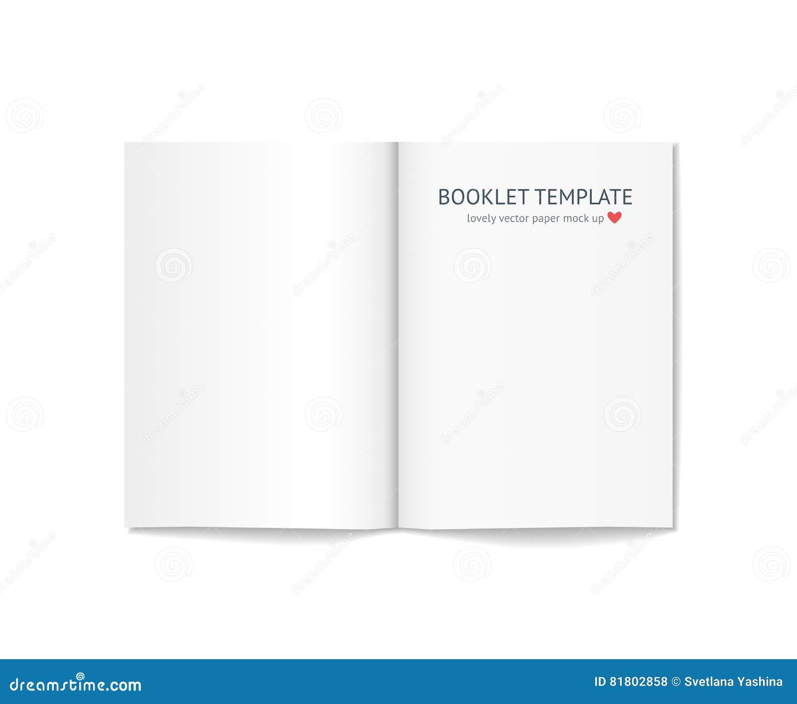Пустой буклет при тень изолированная на предпосылке
