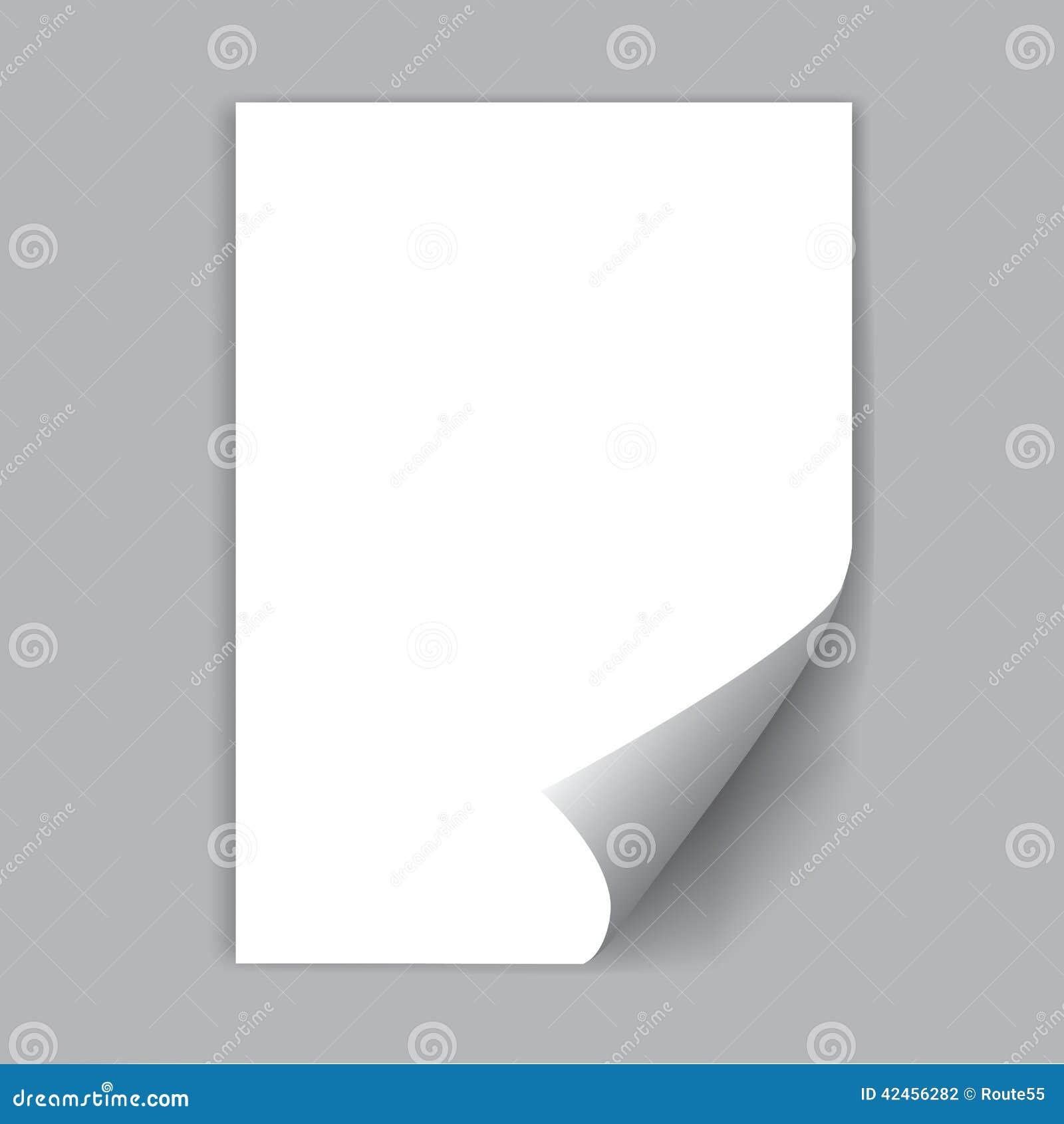 пустой вектор листа бумаги иллюстрации