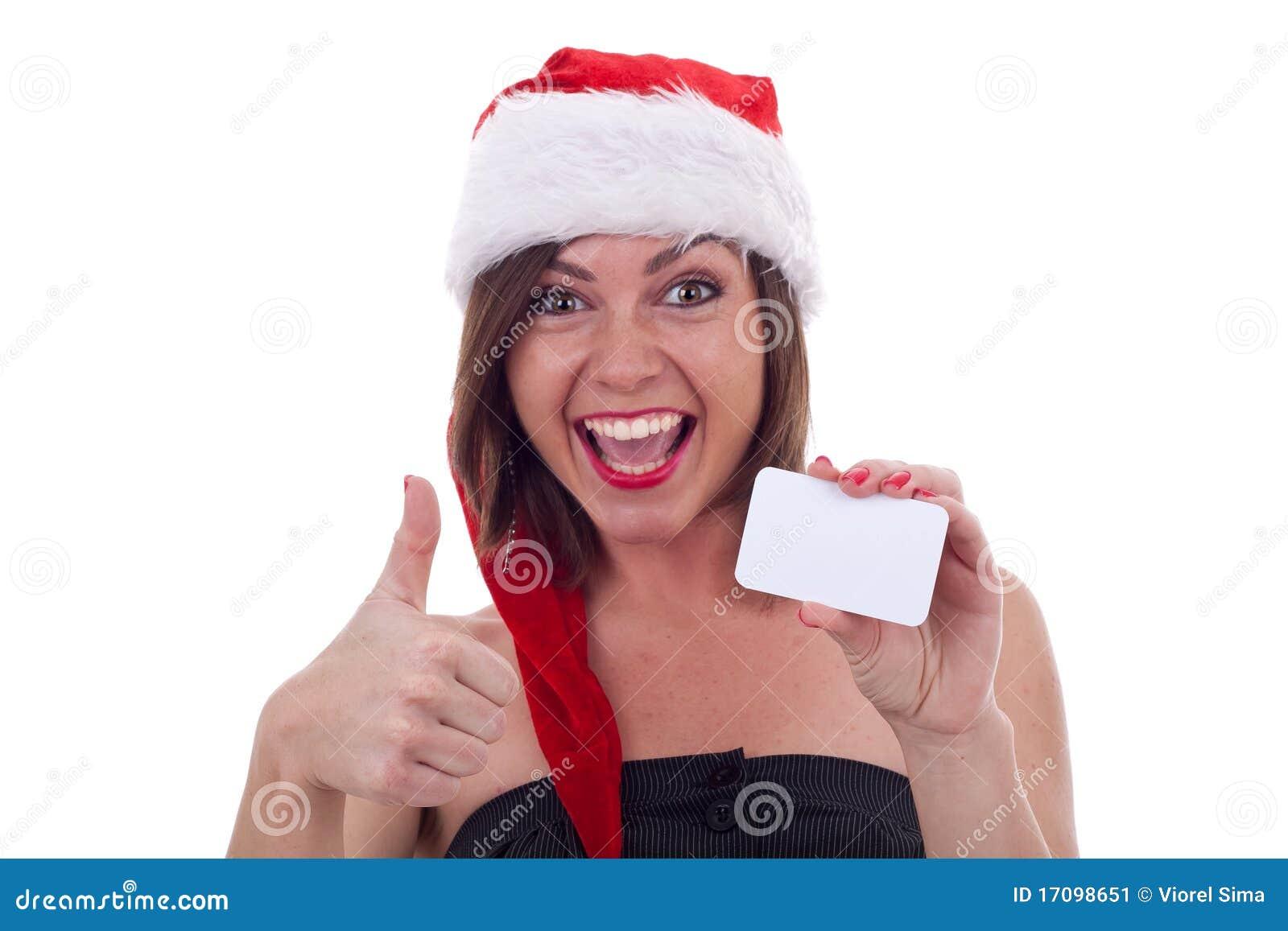 Пустой знак - ОДОБРЕННАЯ девушка Санта
