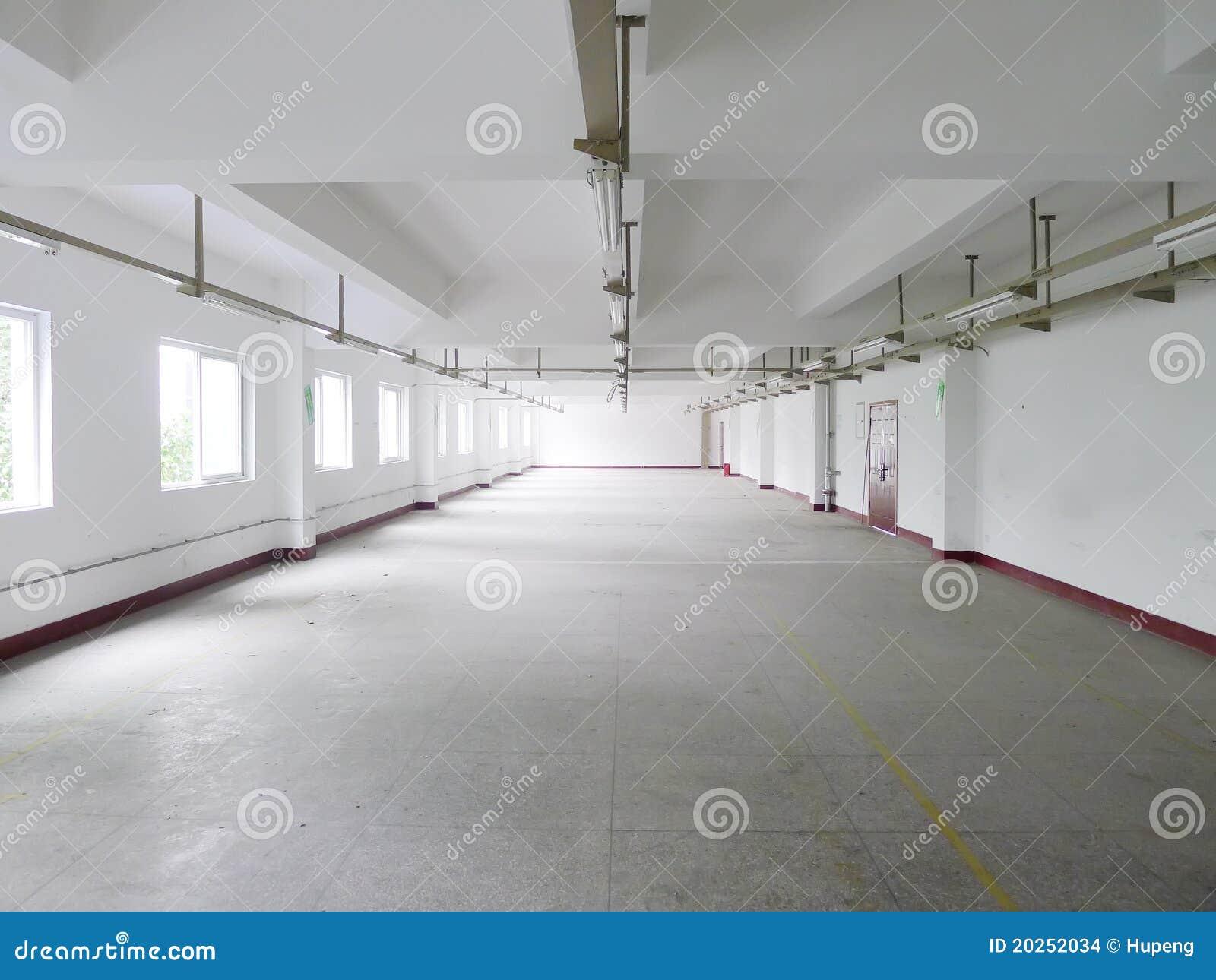 пустой интерьер фабрики