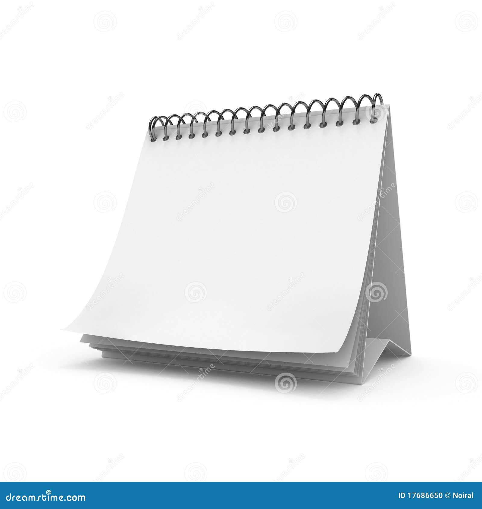 Пустой календар настольного компьютера
